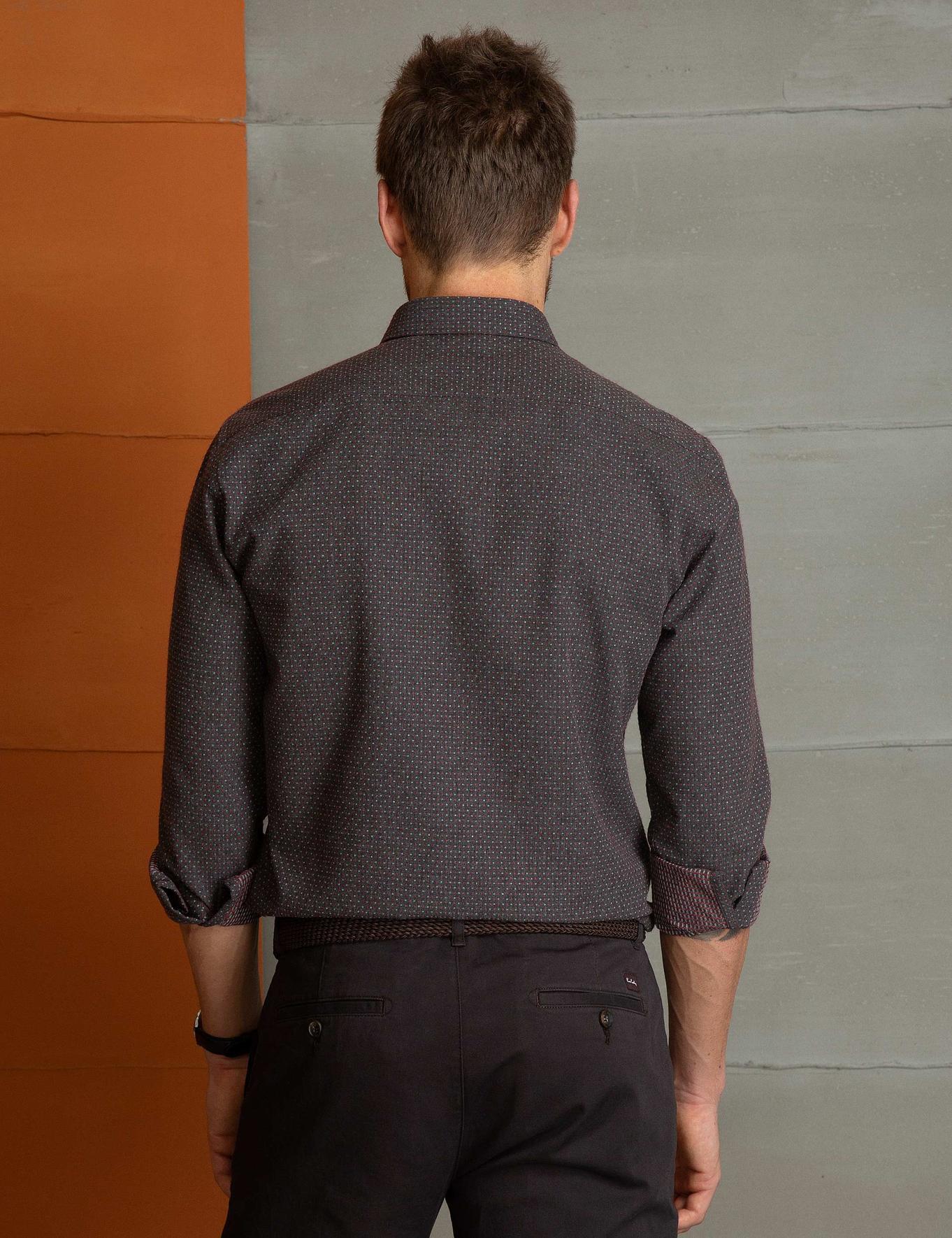 Kahverengi Slim Fit Gömlek