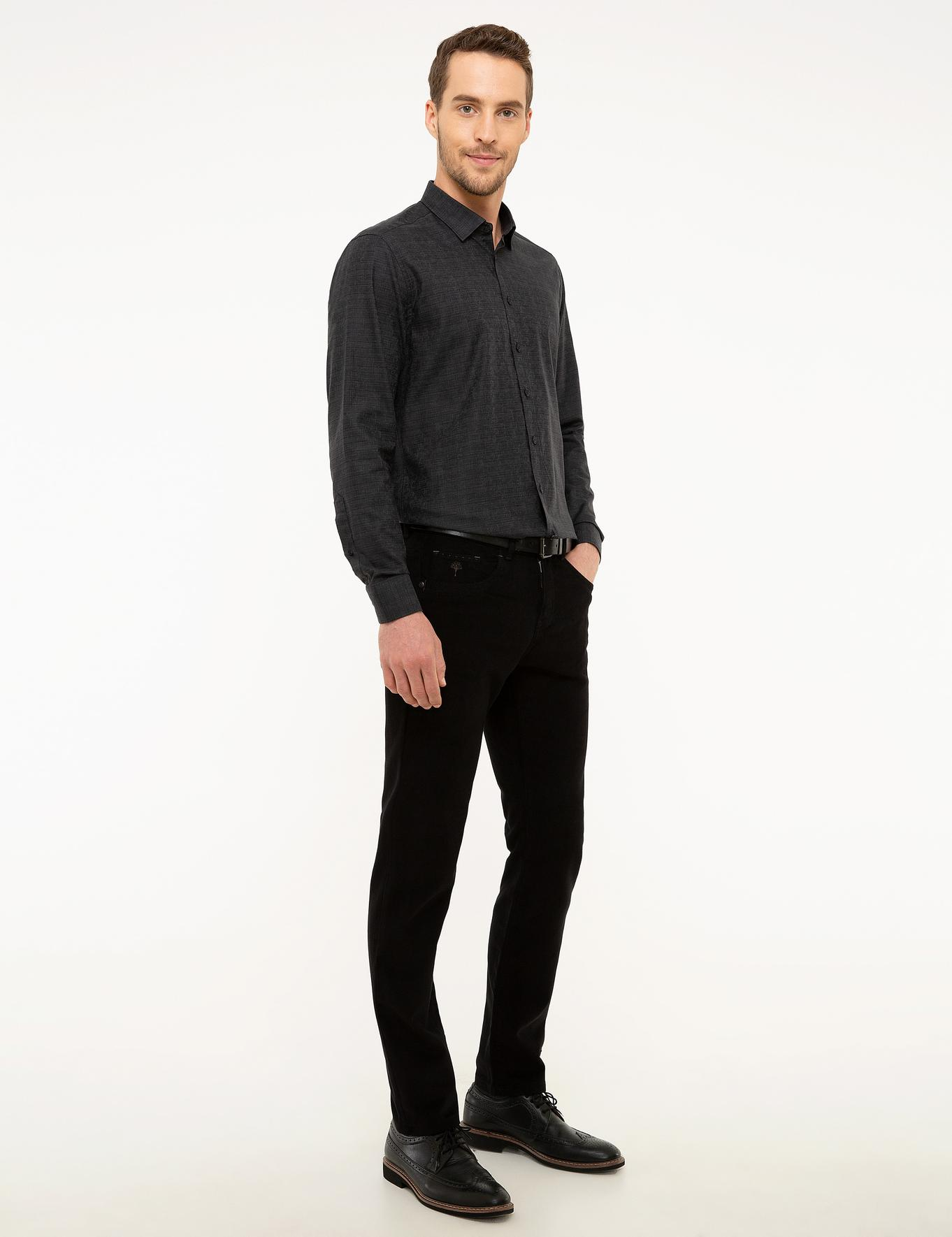 Siyah Slim Fit Chino Pantolon