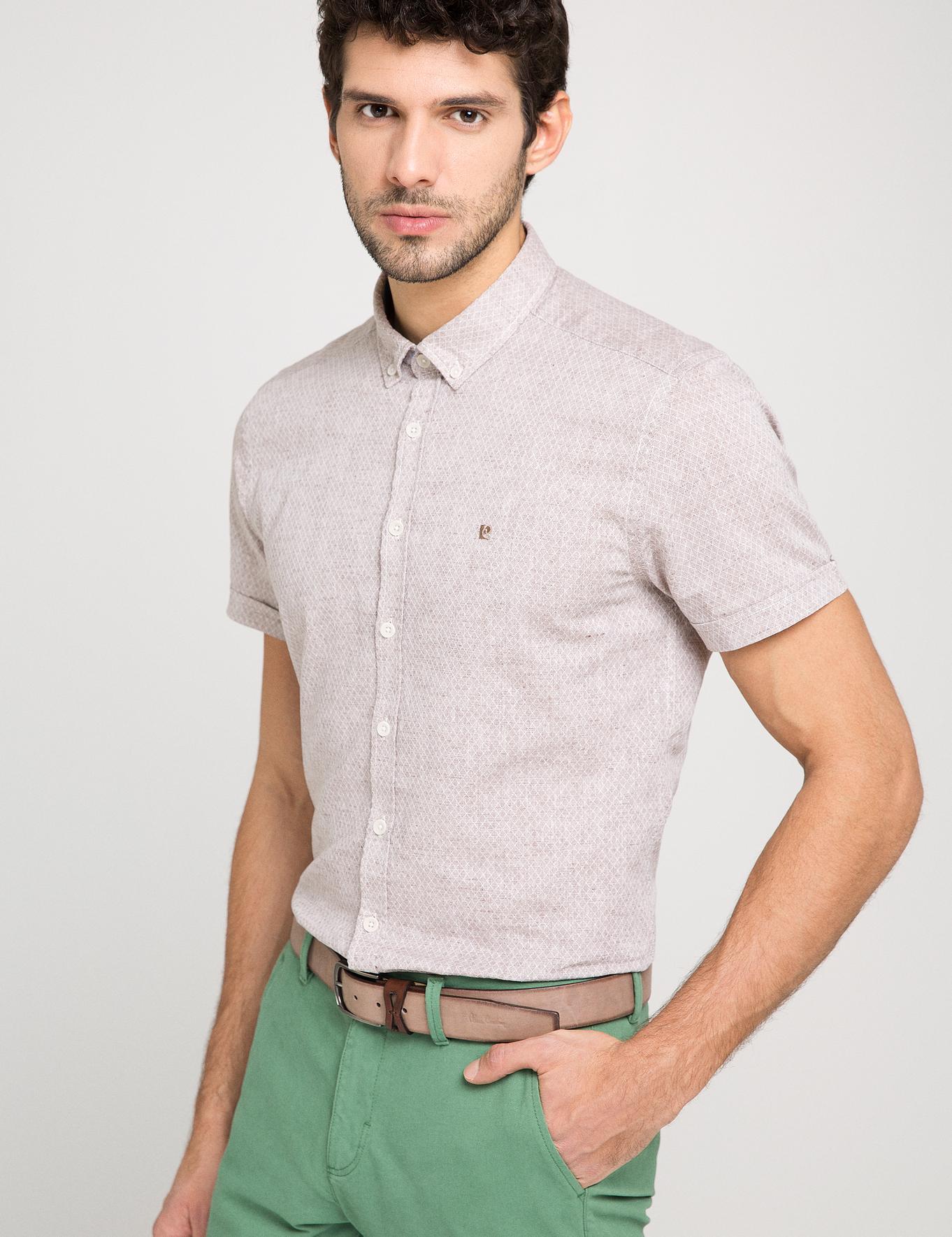 Slim Bej Gömlek