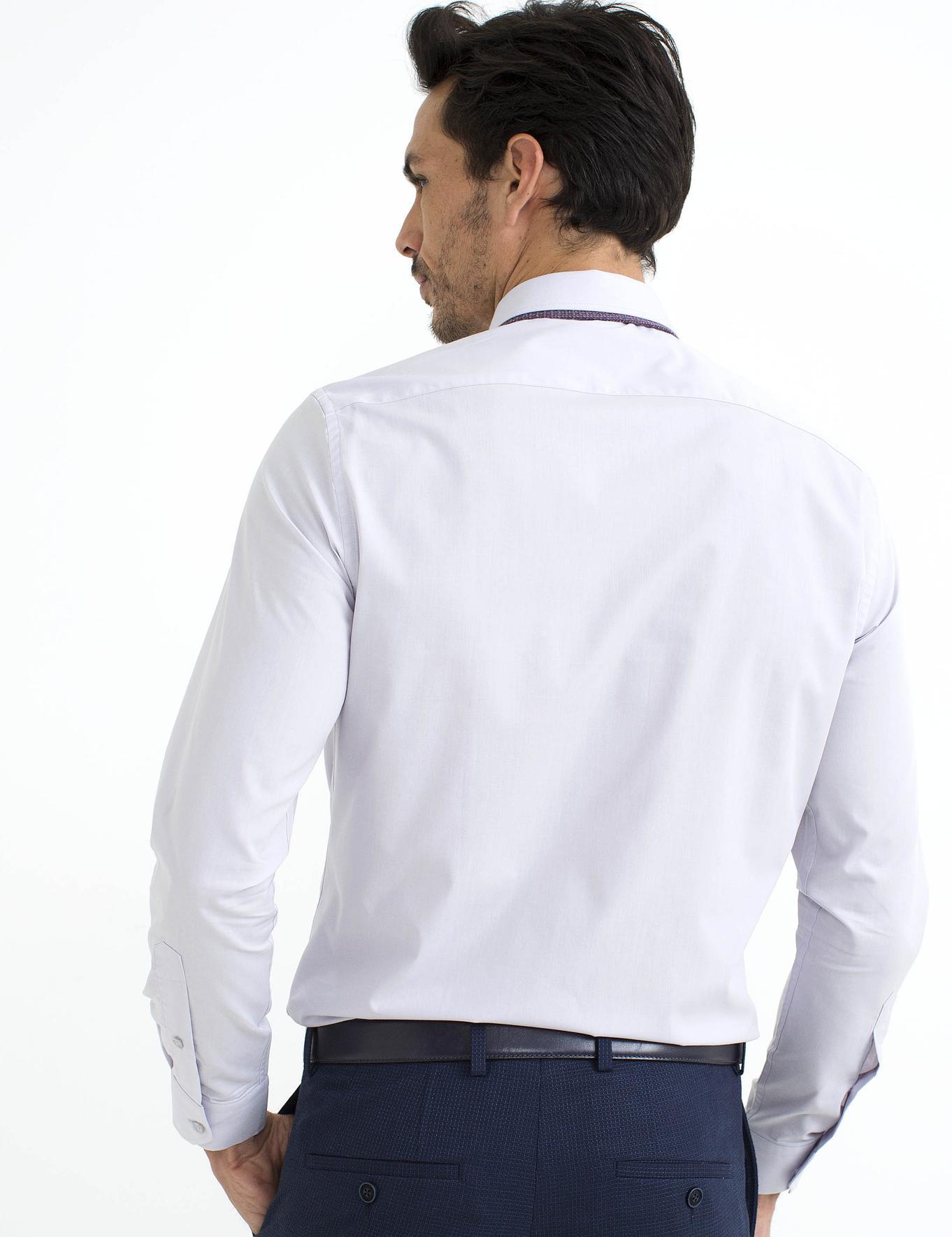 Gri Slim Fit Basic Gömlek