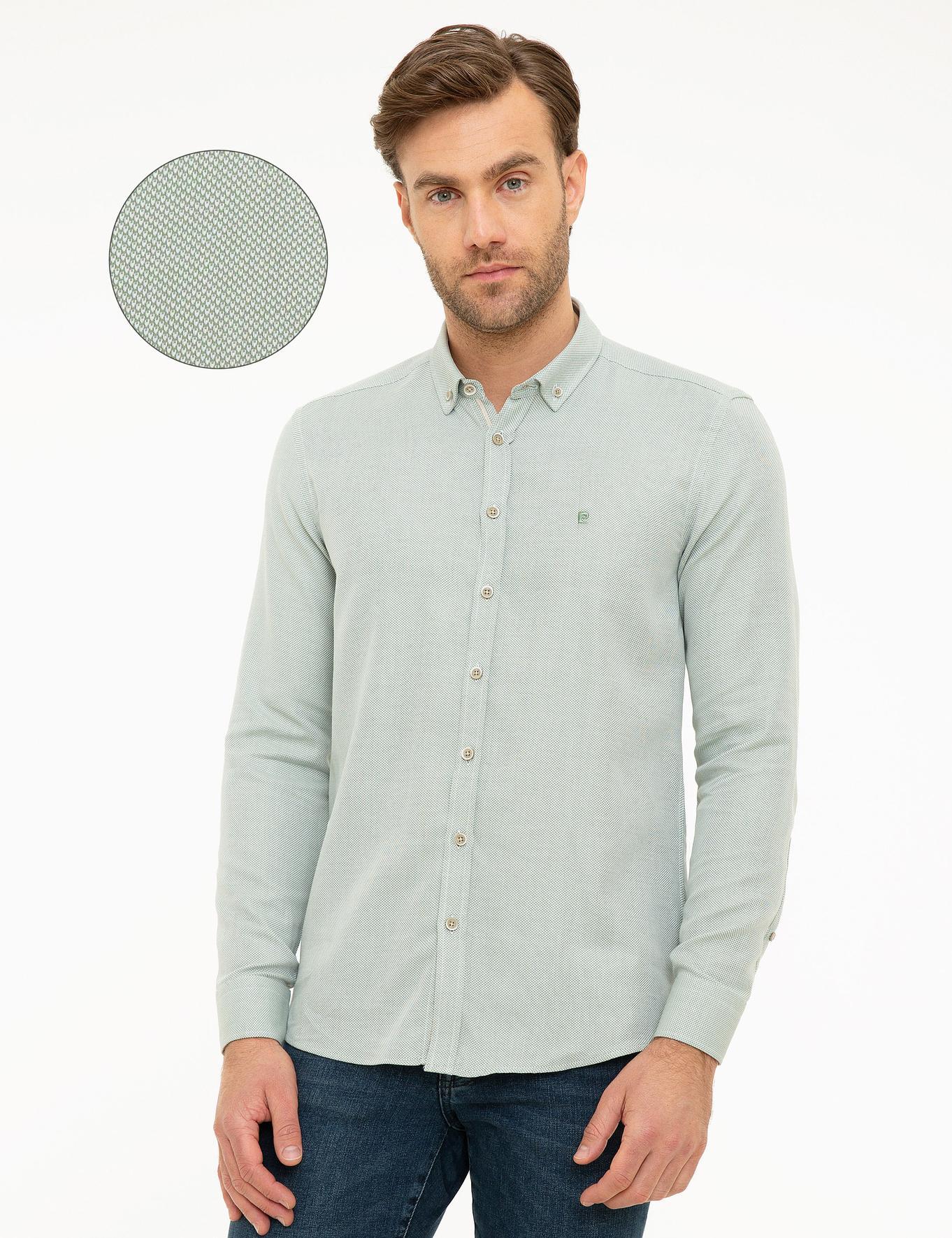 Yeşil Slim Fit Oxford Gömlek