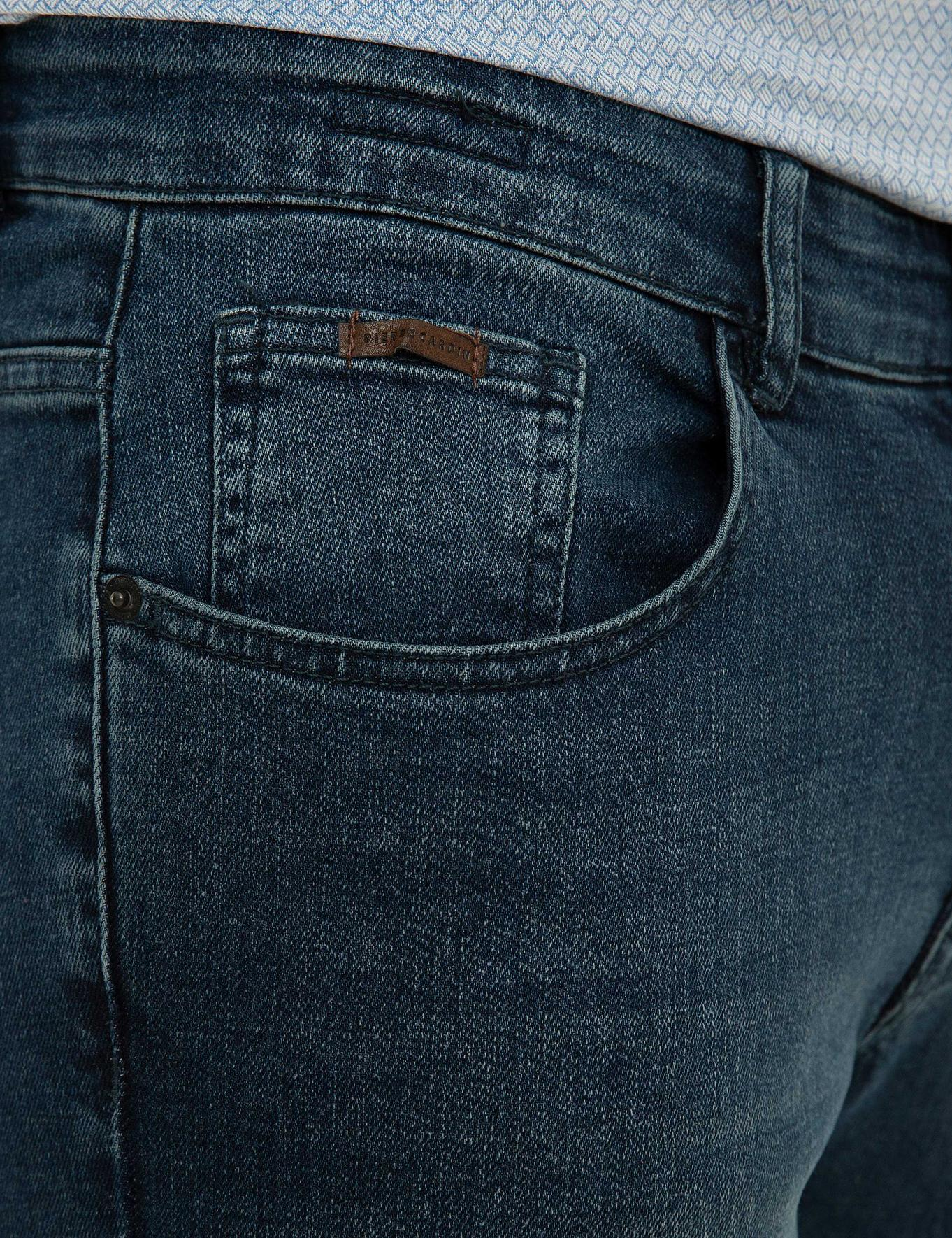 Koyu Mavi Slim Fit Denim Pantolon