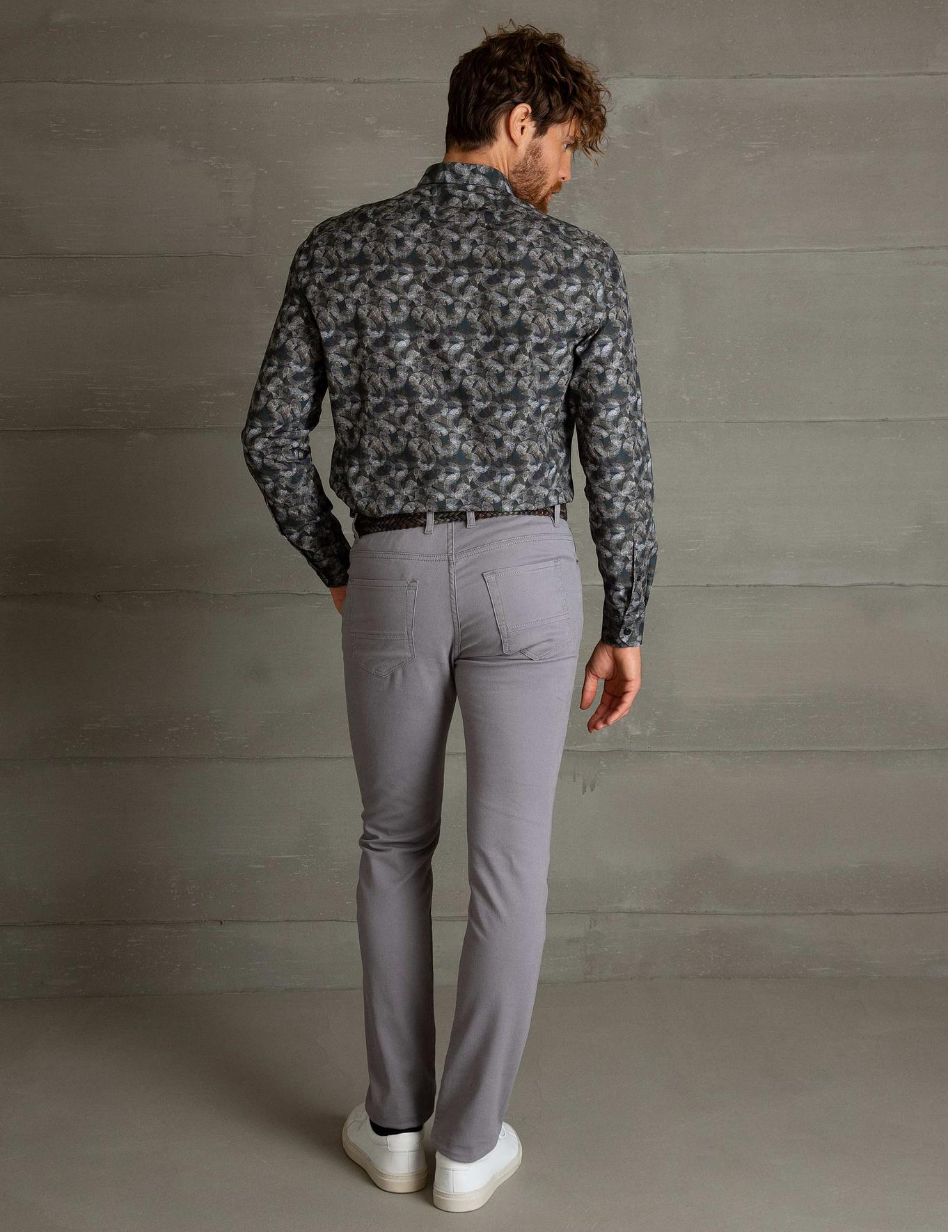 Gri Slim Fit Chino Pantolon