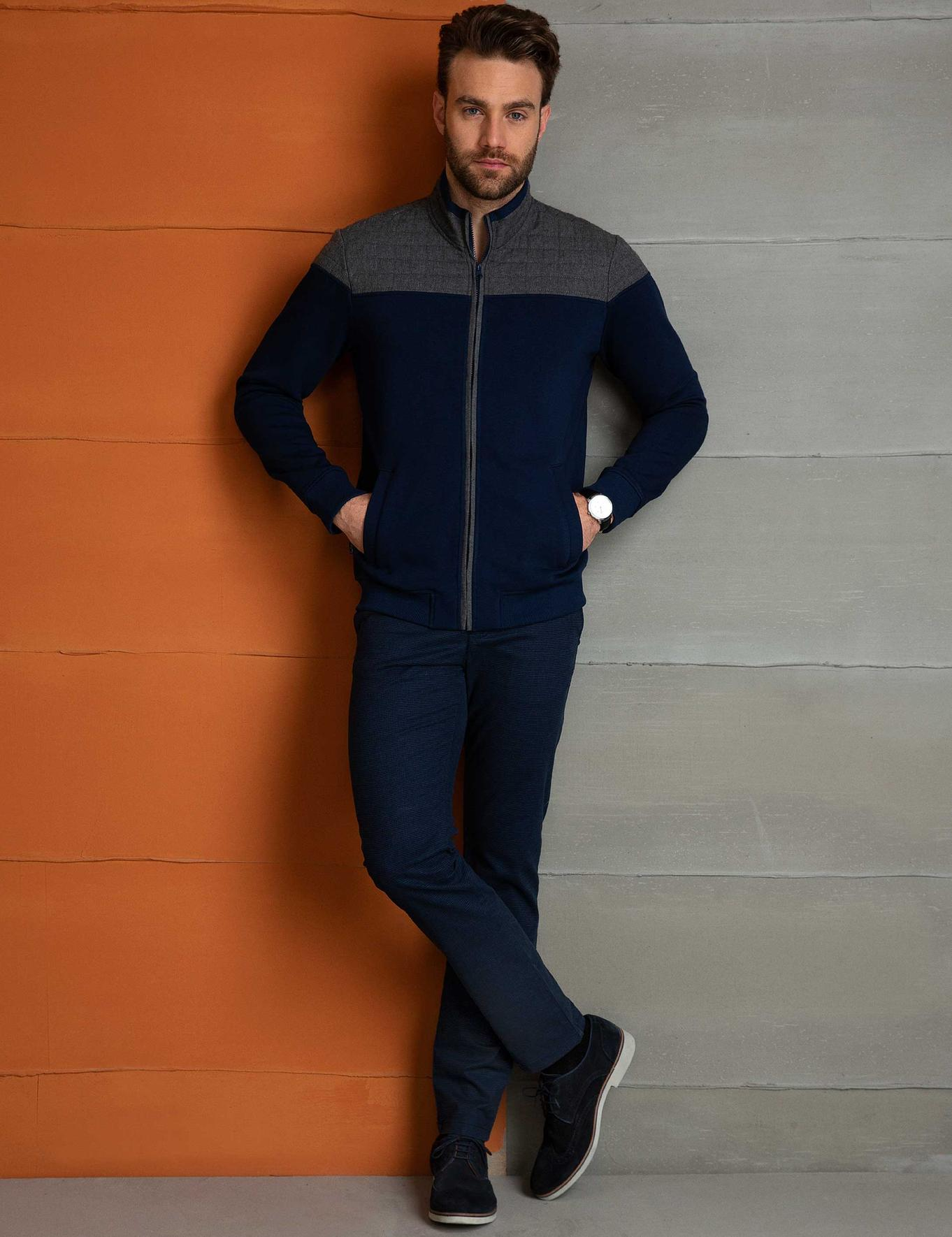 Lacivert Slim Fit Sweatshirt