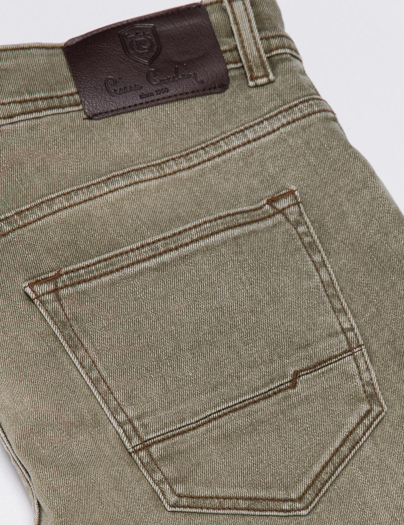Yeşil Slim Denim Pantolon