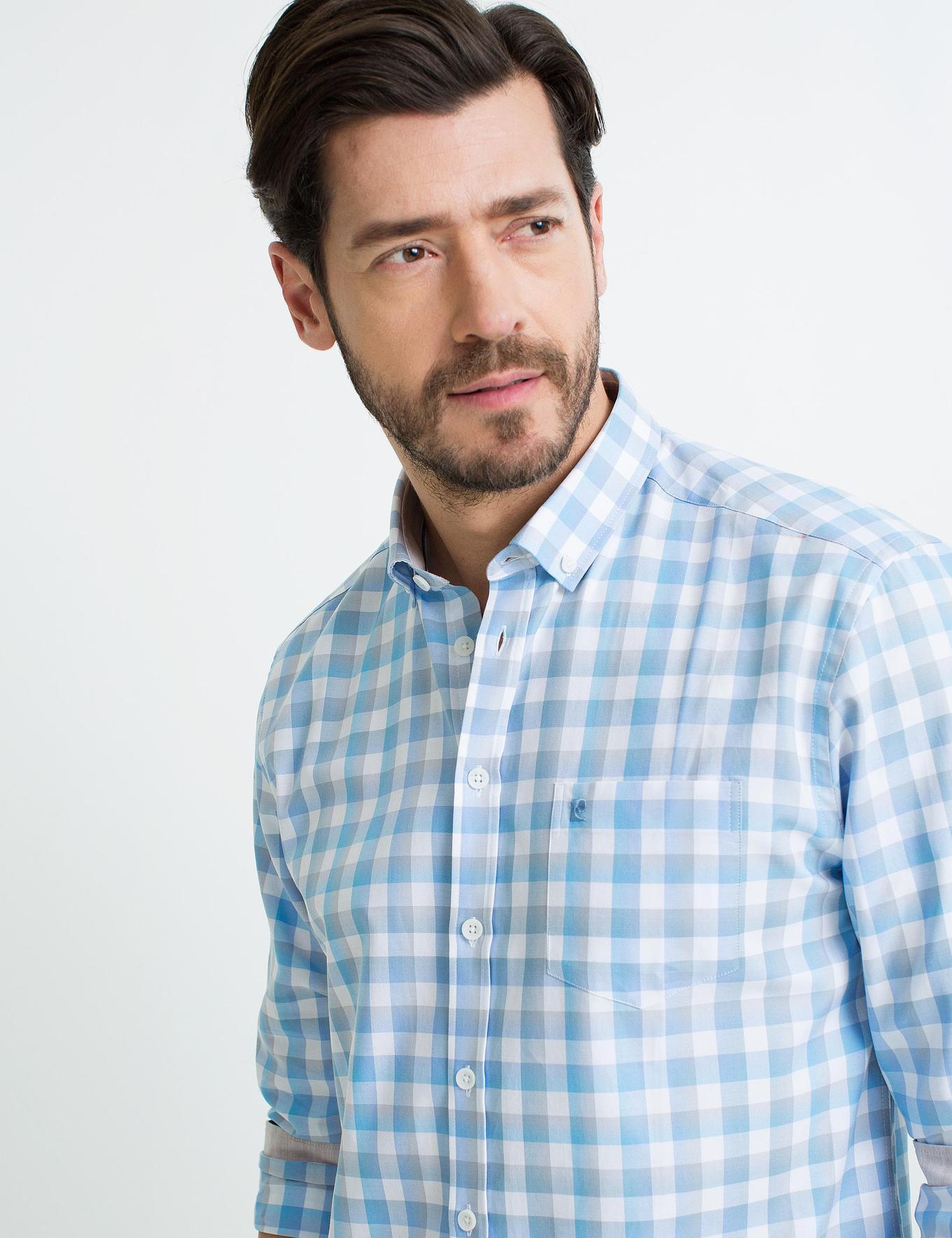 Açık Mavi Regular Fit Gömlek