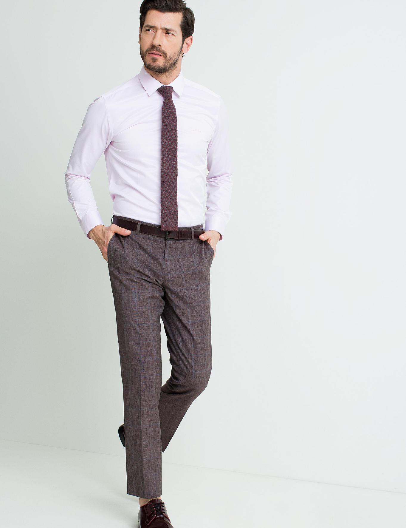 Pembe Slim Fit Basic Gömlek