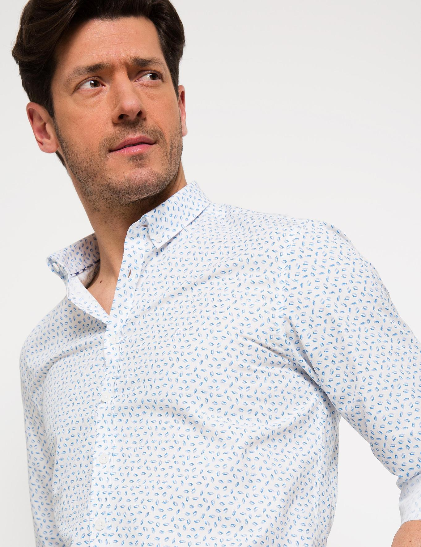 Açık Mavi Detaylı Slim Fit Gömlek