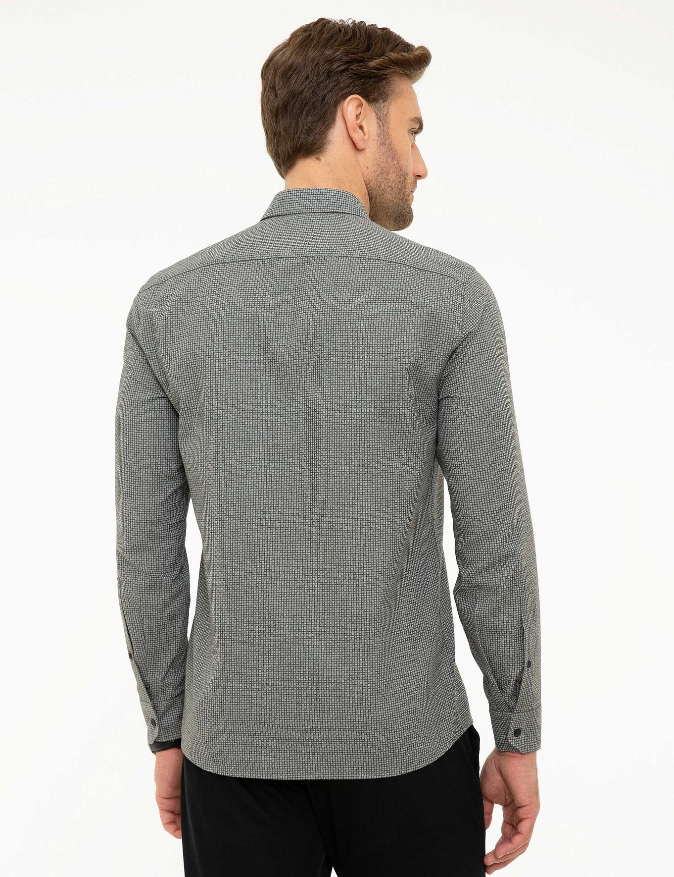 Antrasit Slim Fit Gömlek