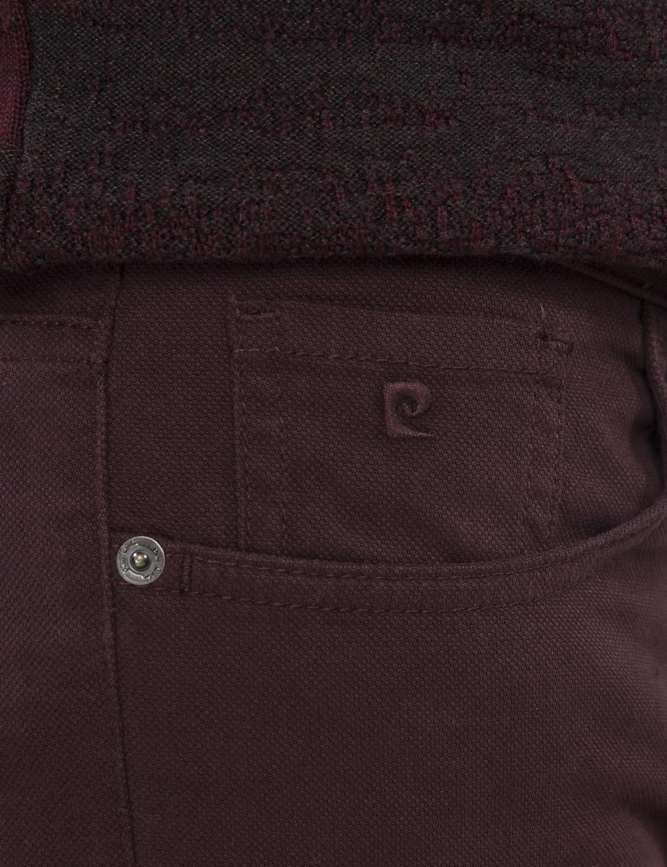 Bordo Slim Fit Chino Pantolon
