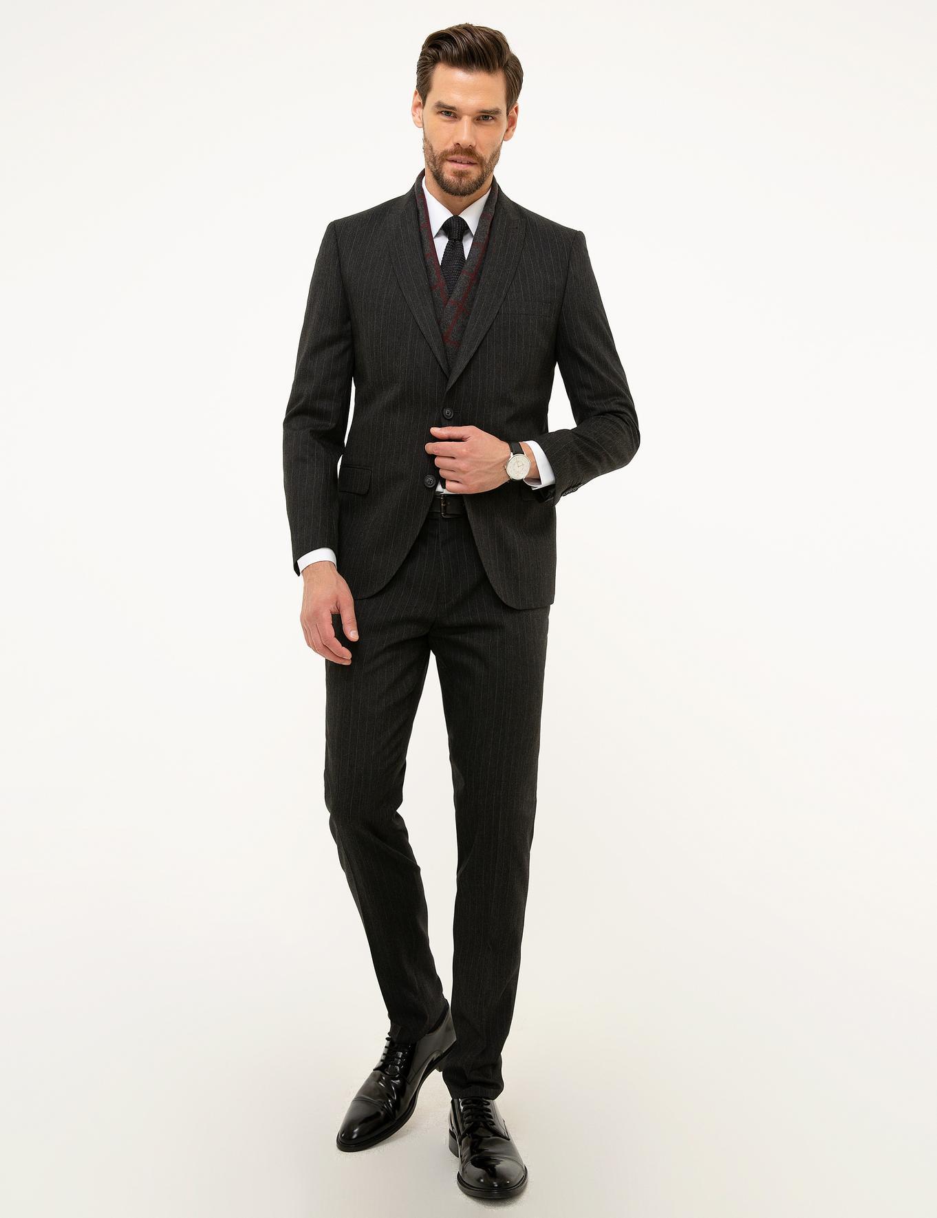 Füme Ekstra Slim Fit Takım Elbise