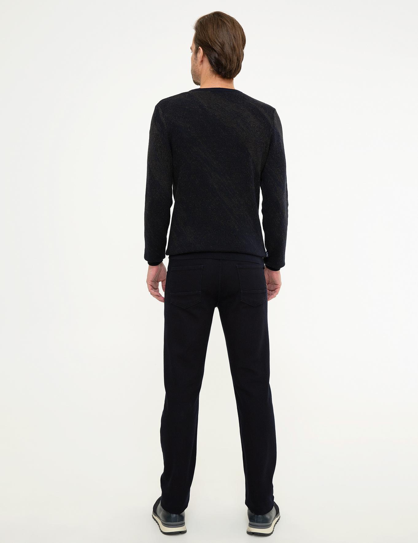 Koyu Lacivert Straight Fit Denim Pantolon