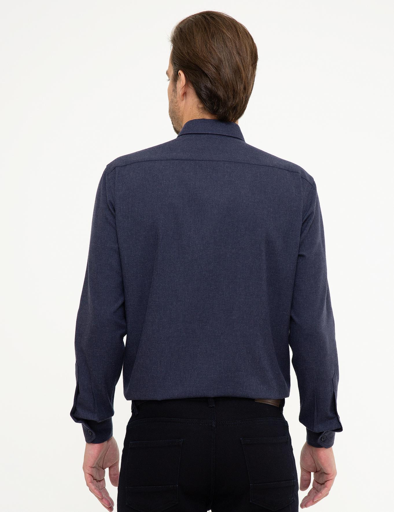 Lacivert Regular Fit Gömlek