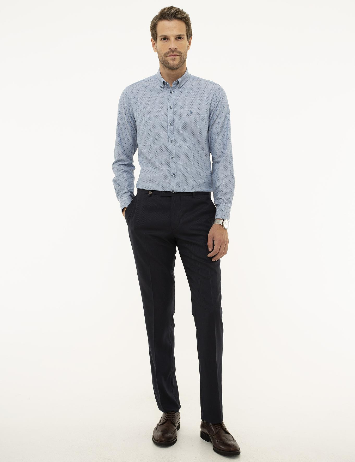 Açık Lacivert Slim Fit Pantolon