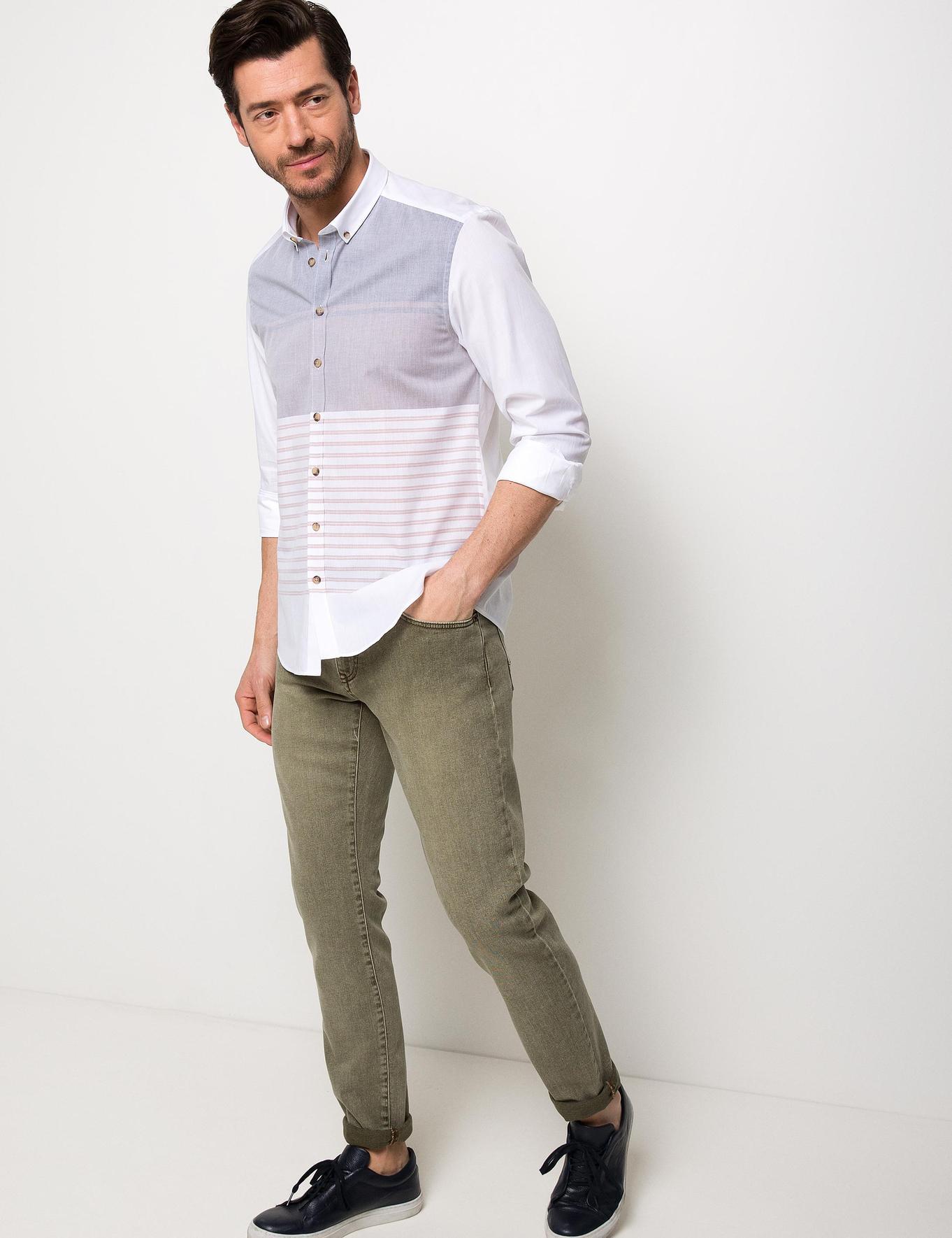 Slim Turuncu Gömlek