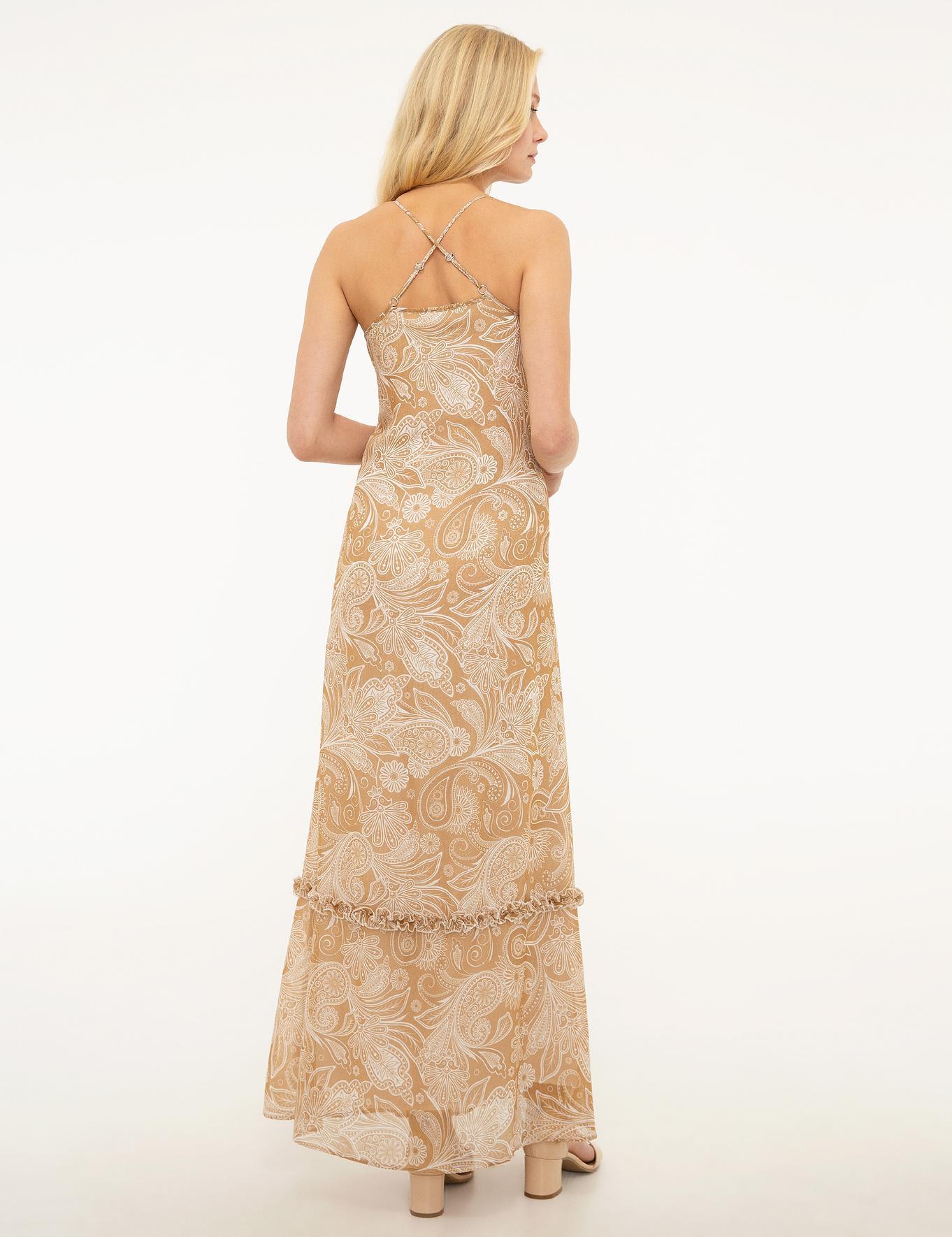 Bej Dokuma Elbise