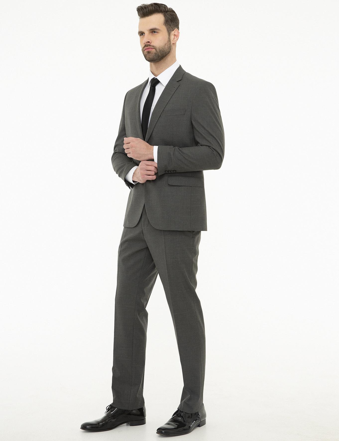 Füme Slim Fit Takım Elbise