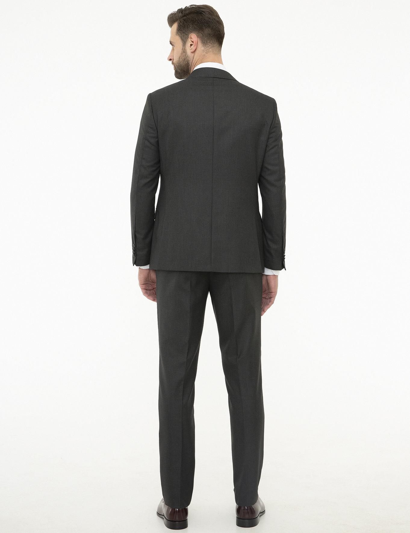 Antrasit Slim Fit Takım Elbise