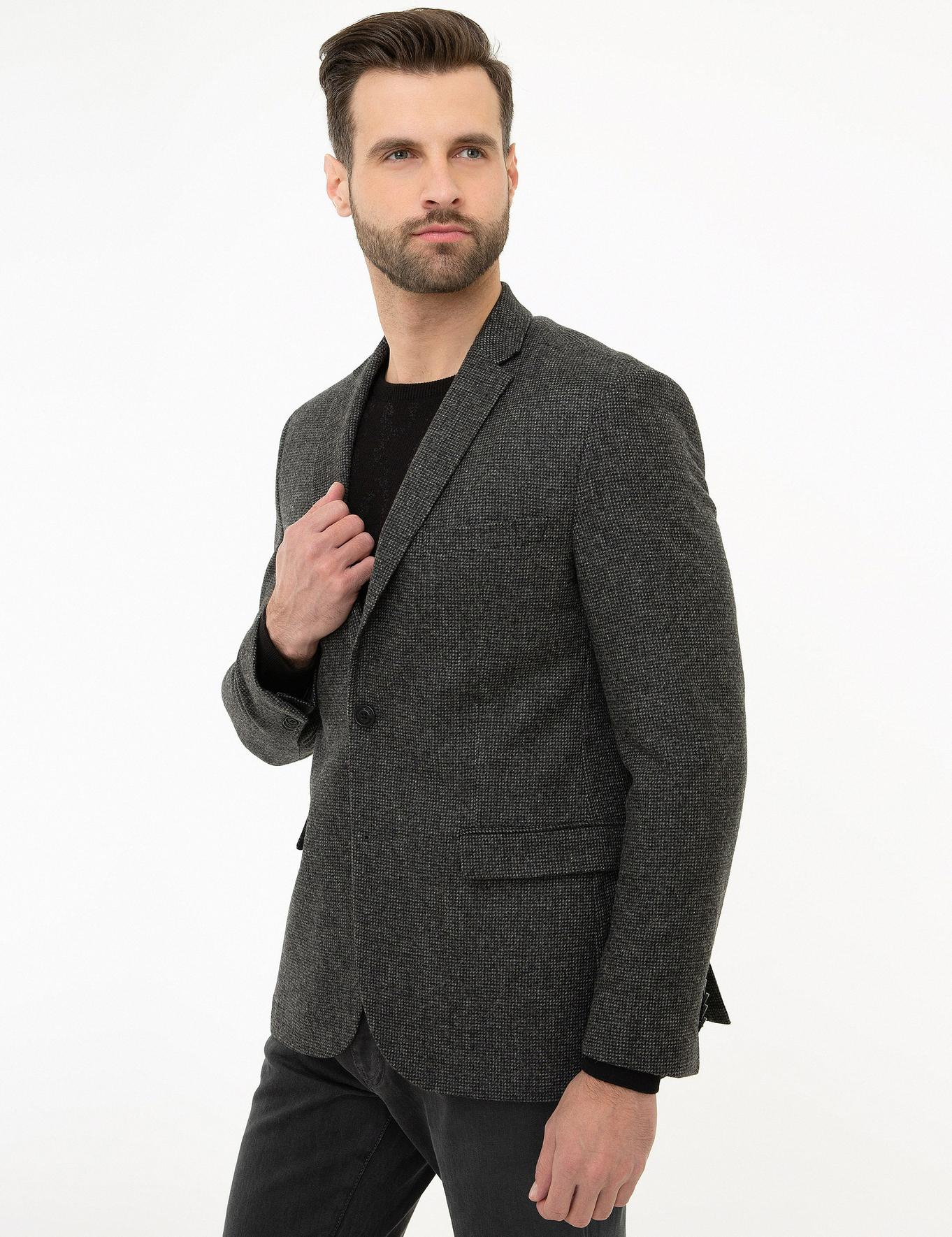 Füme Slim Fit Ceket