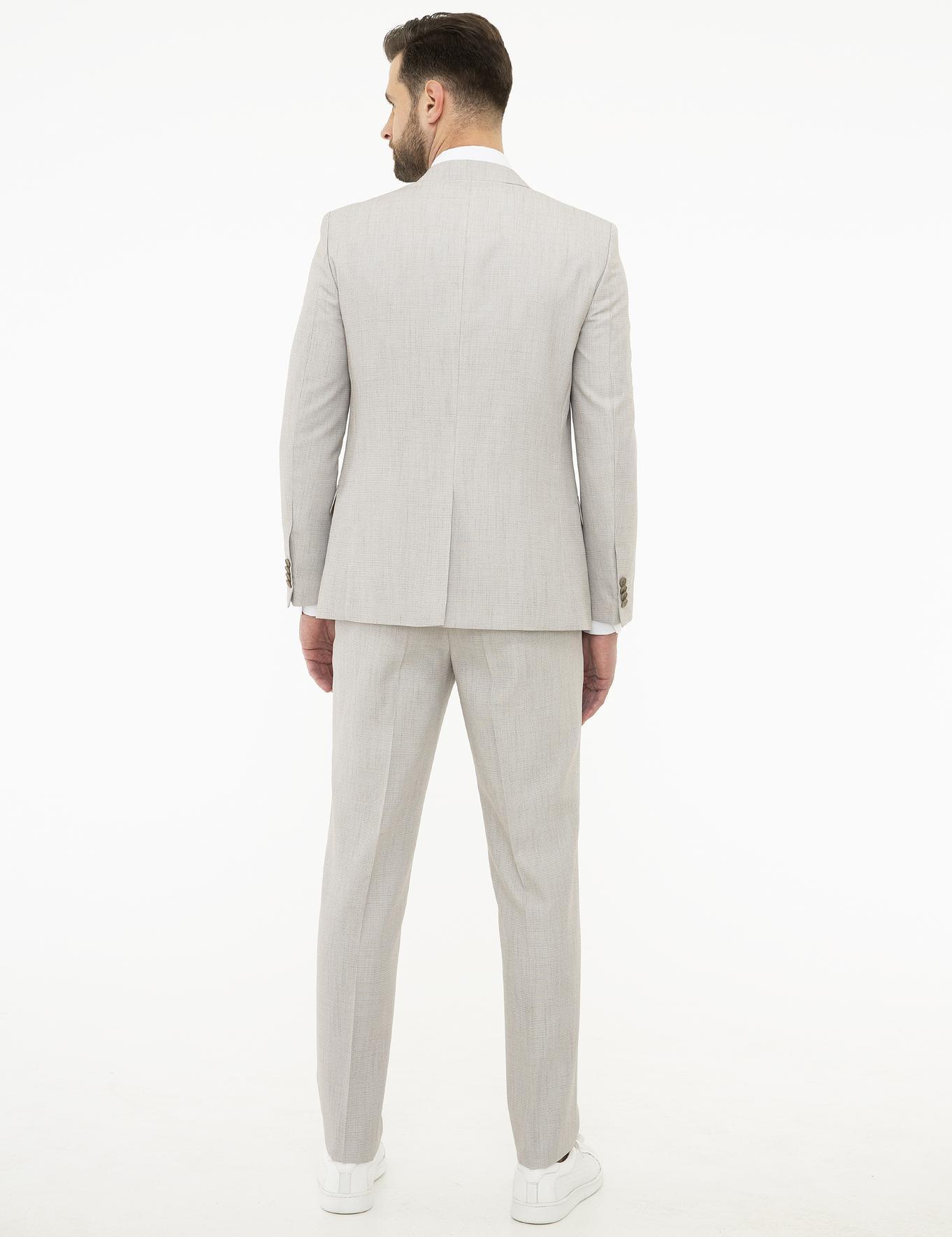 Gri Ekstra Slim Fit Takım Elbise