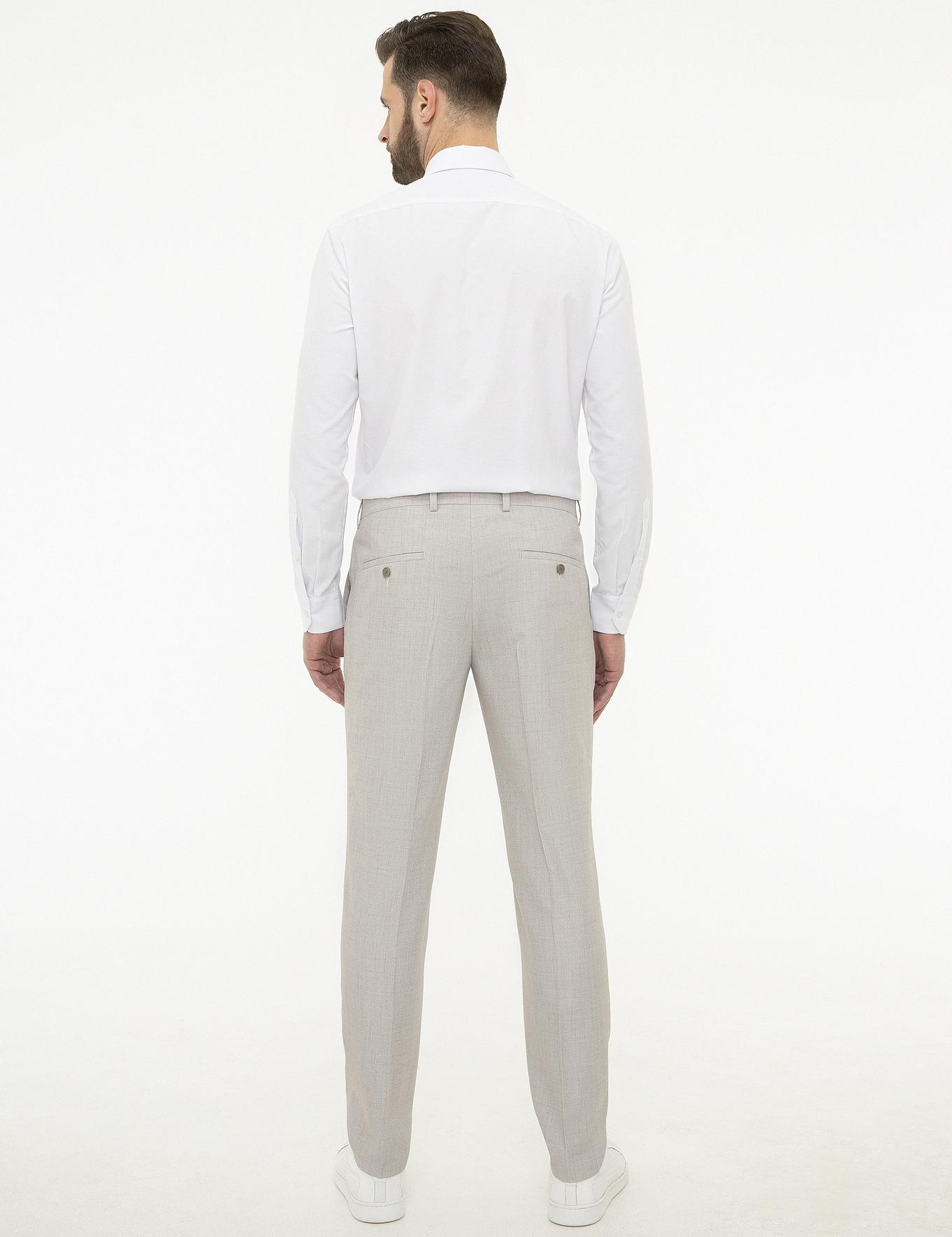 Gri Ekstra Slim Fit Pantolon