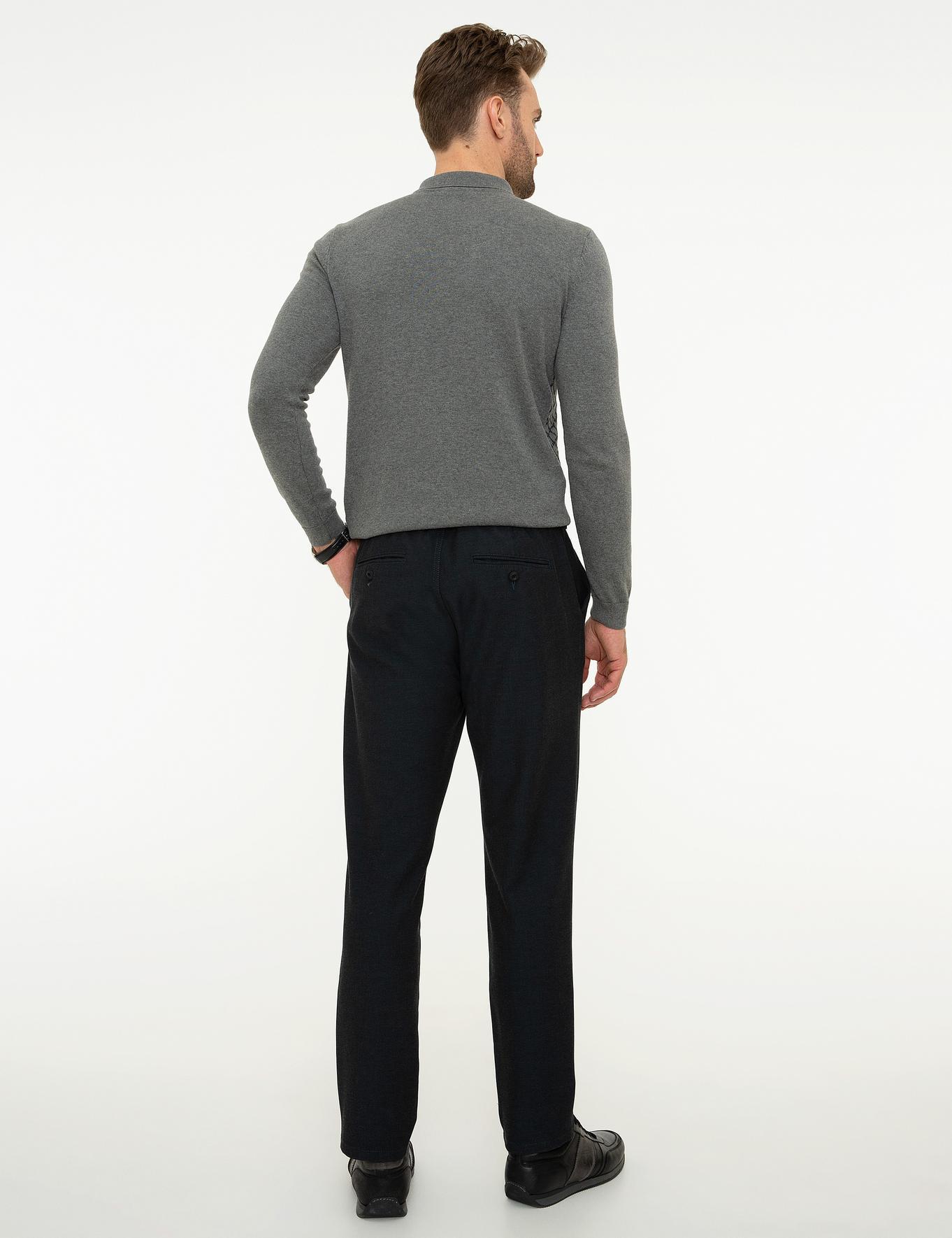 Lacivert Jogger Fit Chino Pantolon