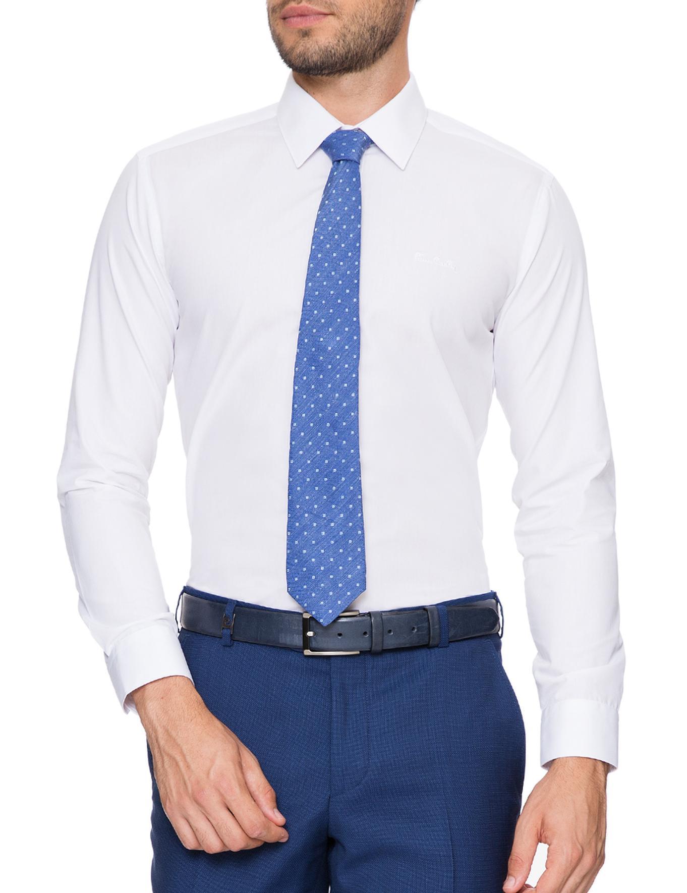 Beyaz Slim Fit Basic Gömlek
