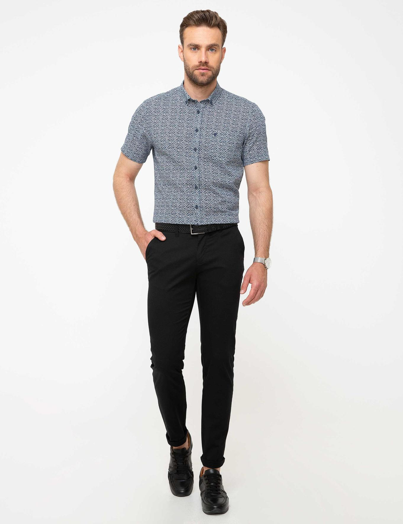Siyah Slim Fit Chino Pantolon