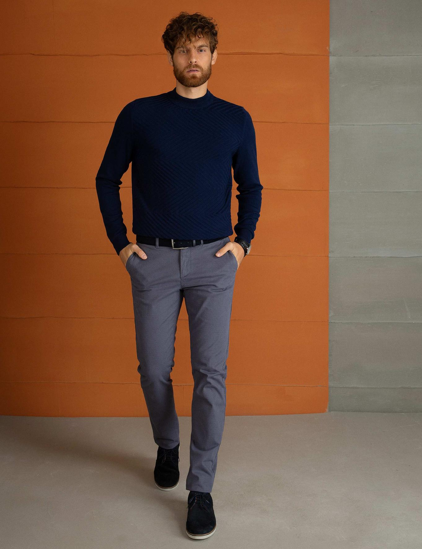 Antrasit Slim Fit Chino Pantolon