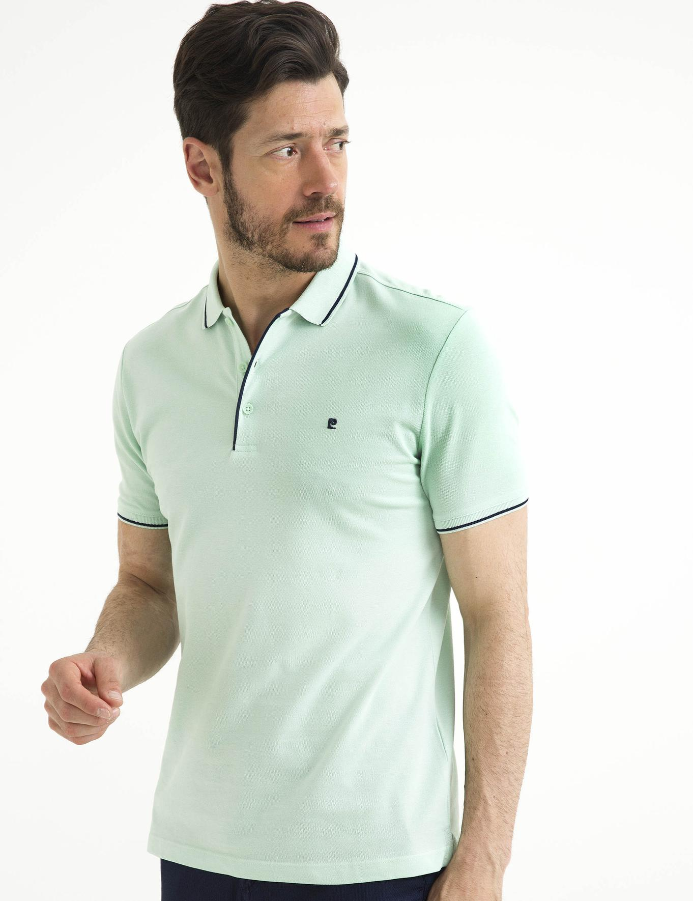 Mint Yeşil Slim Fit Polo Yaka T-Shirt