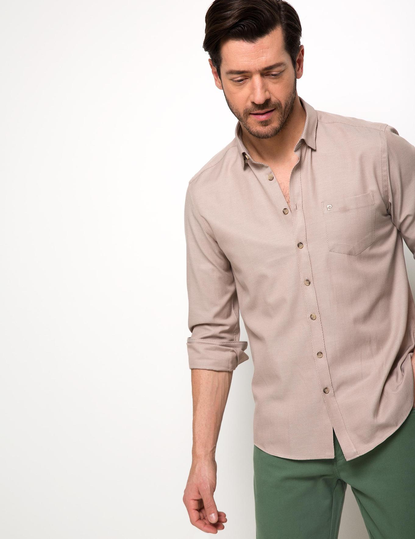 Bej Regular Fit Gömlek