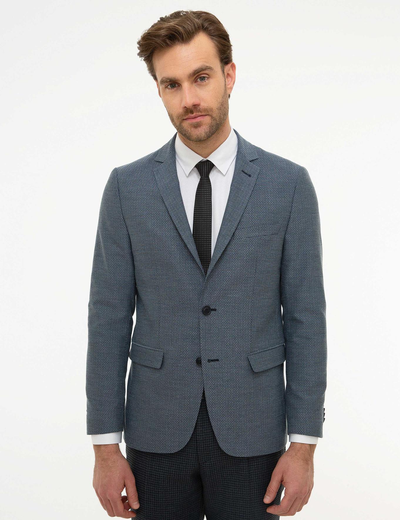 Koyu Mavi Ekstra Slim Fit Ceket
