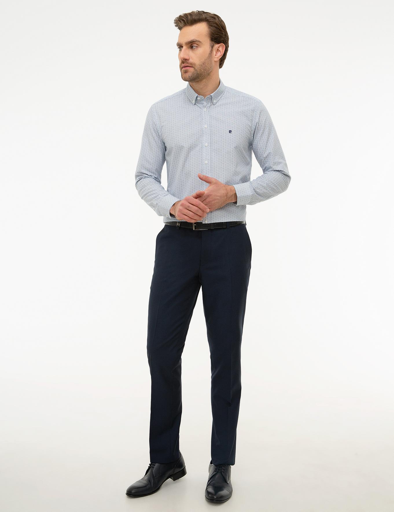 Lacivert Slim Fit Gömlek