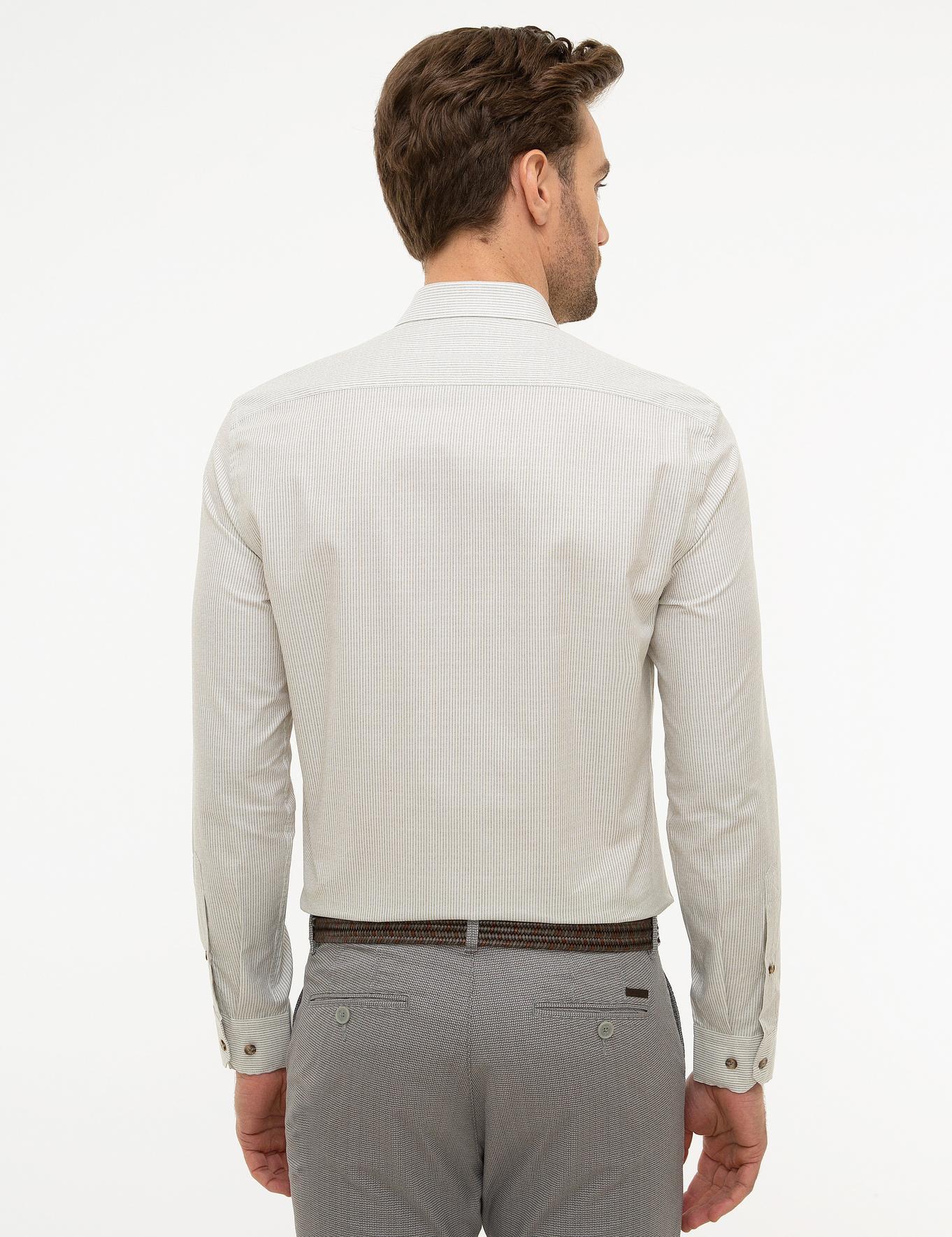 Haki Slim Fit Gömlek