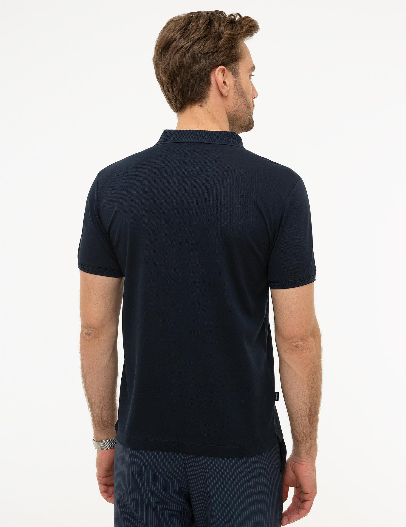Koyu Lacivert Slim Fit Merserize T-Shirt