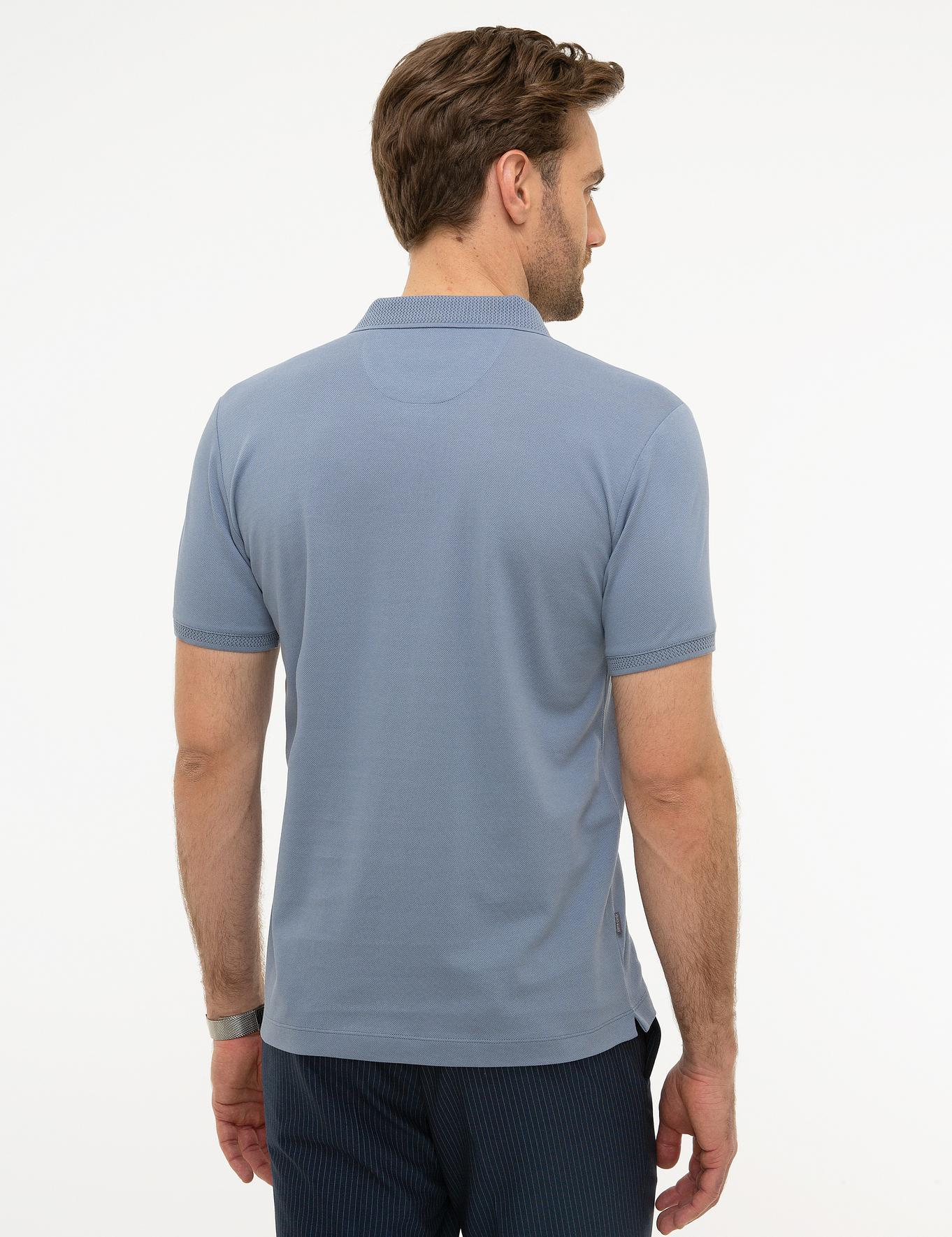 Lila Slim Fit Merserize Polo Yaka T-Shirt