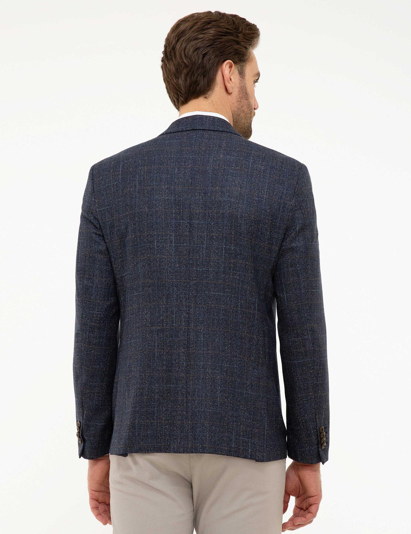 Lacivert Slim Fit Ceket
