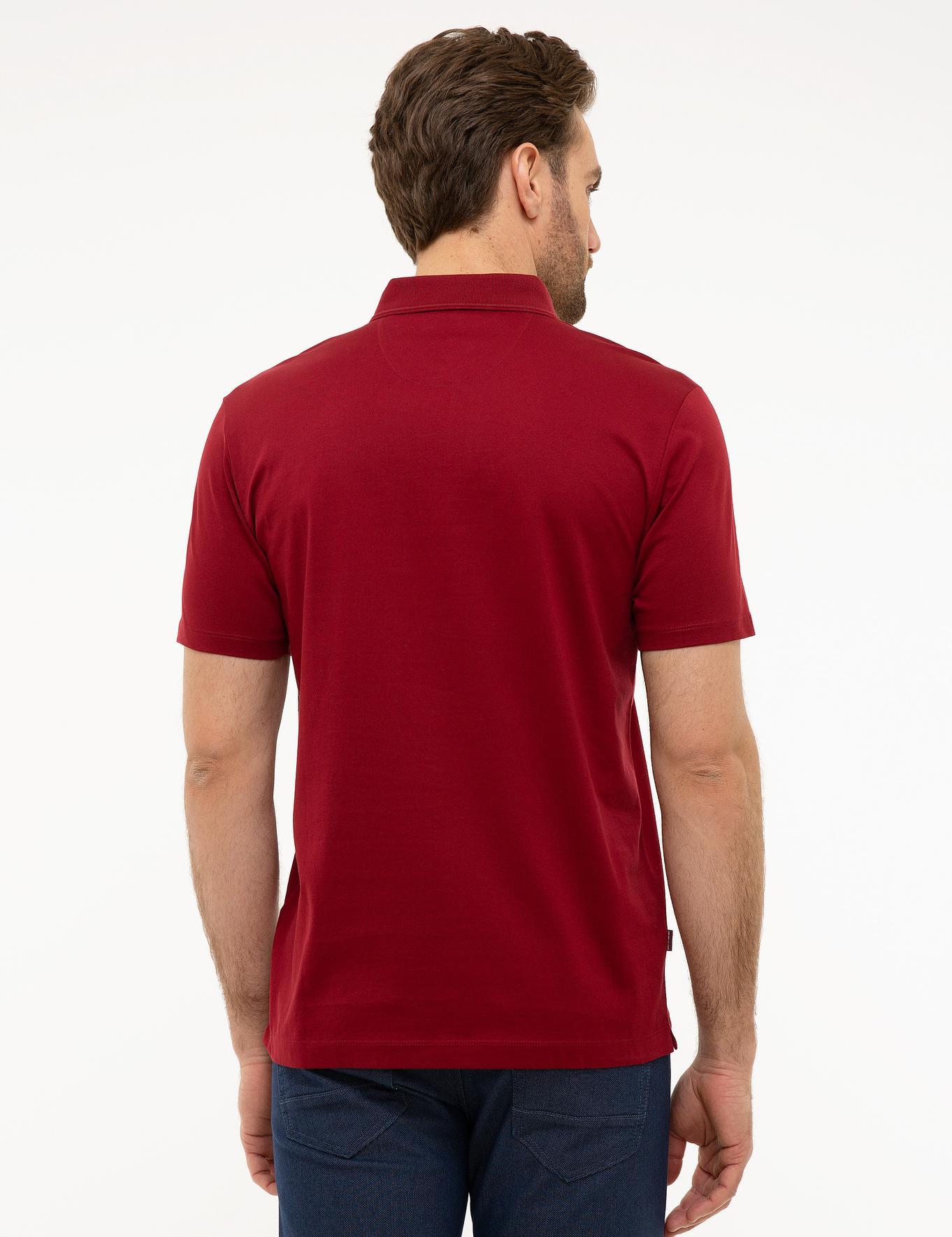 Bordo Regular Fit Merserize Polo Yaka T-Shirt