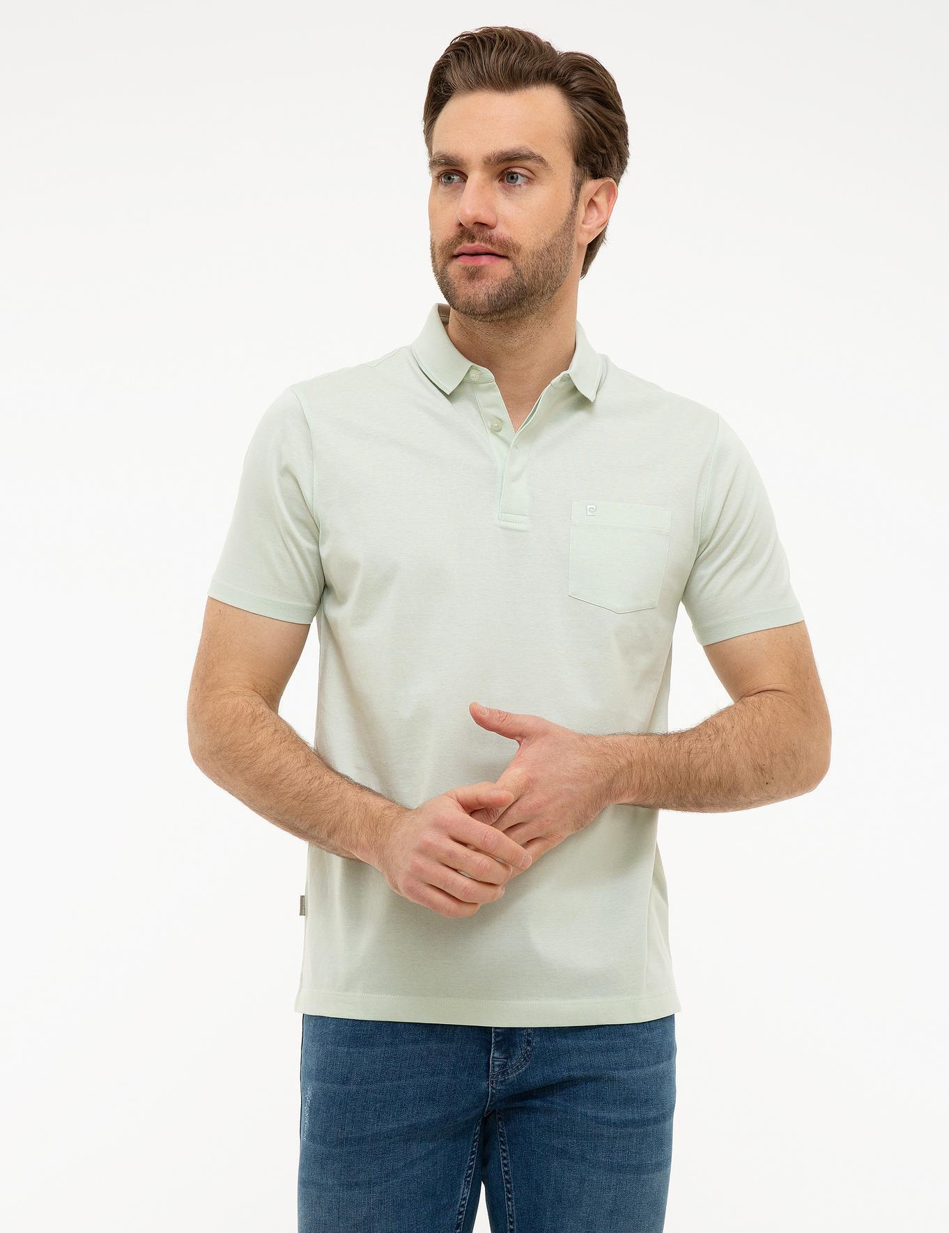 Açık Yeşil Regular Fit Merserize Polo Yaka T-Shirt