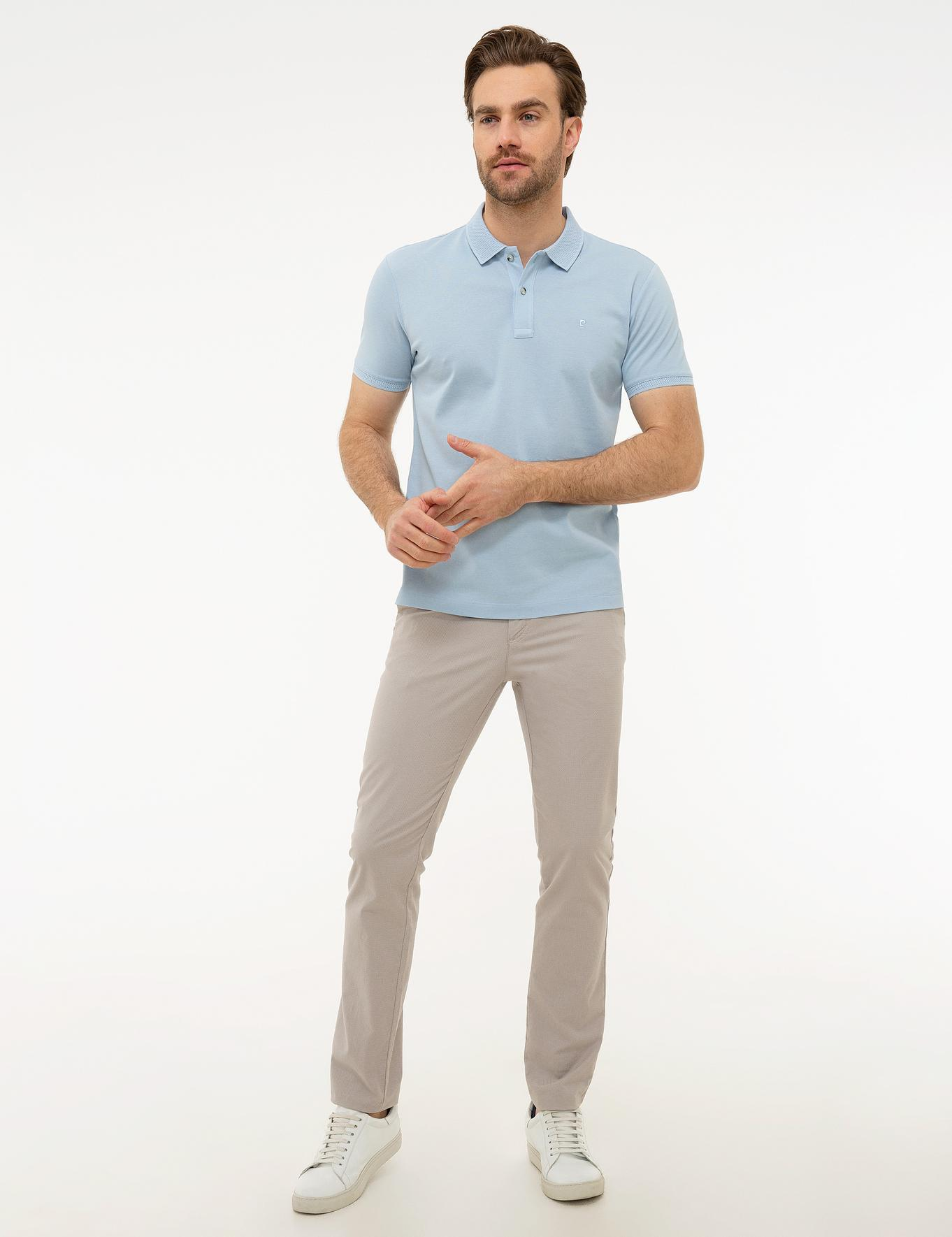 Açık Mavi Slim Fit Basic Polo Yaka T-Shirt