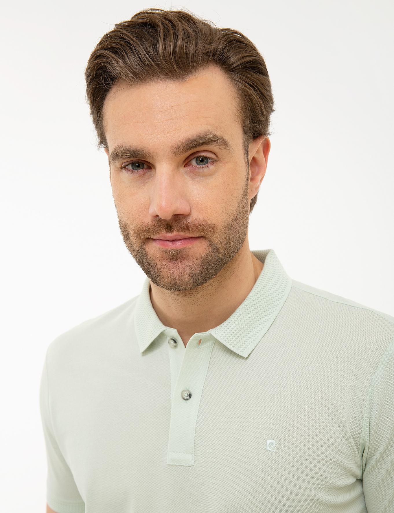 Açık Yeşil Slim Fit Basic Polo Yaka T-Shirt
