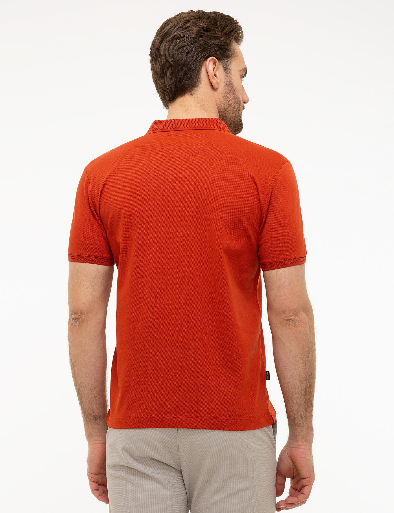 Kiremit Slim Fit Merserize Polo Yaka T-Shirt