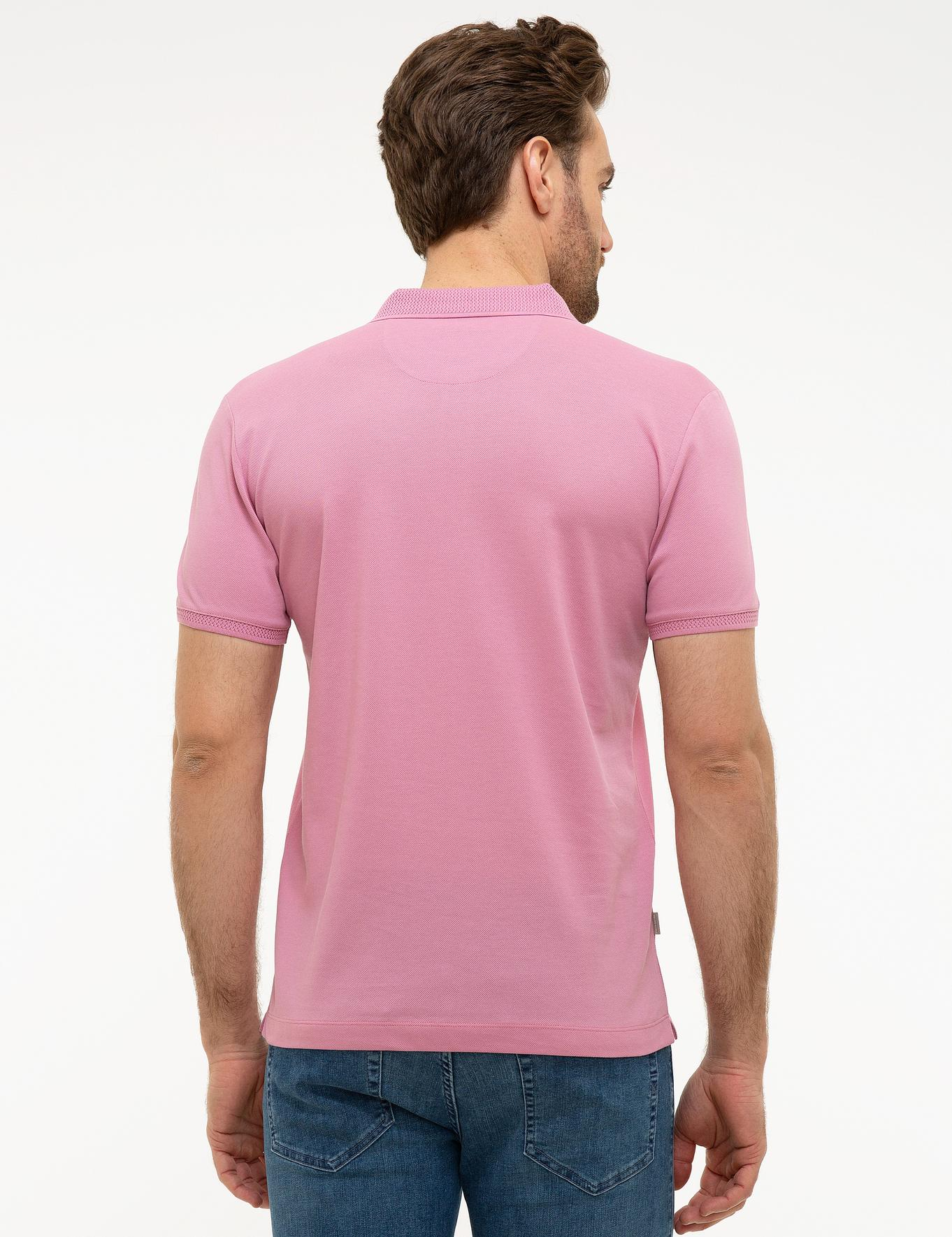 Pembe Slim Fit Merserize T-Shirt