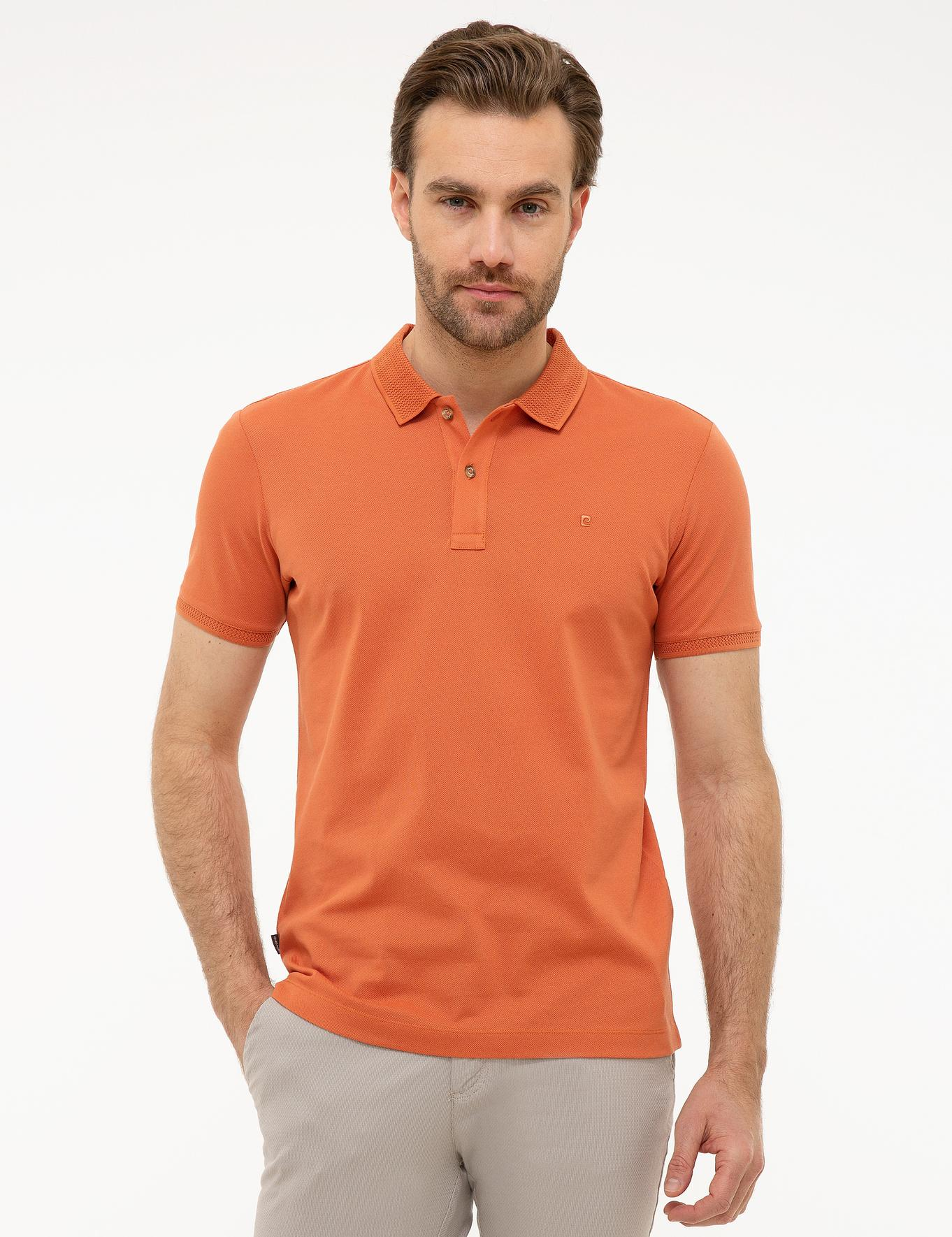 Turuncu Slim Fit Merserize T-Shirt