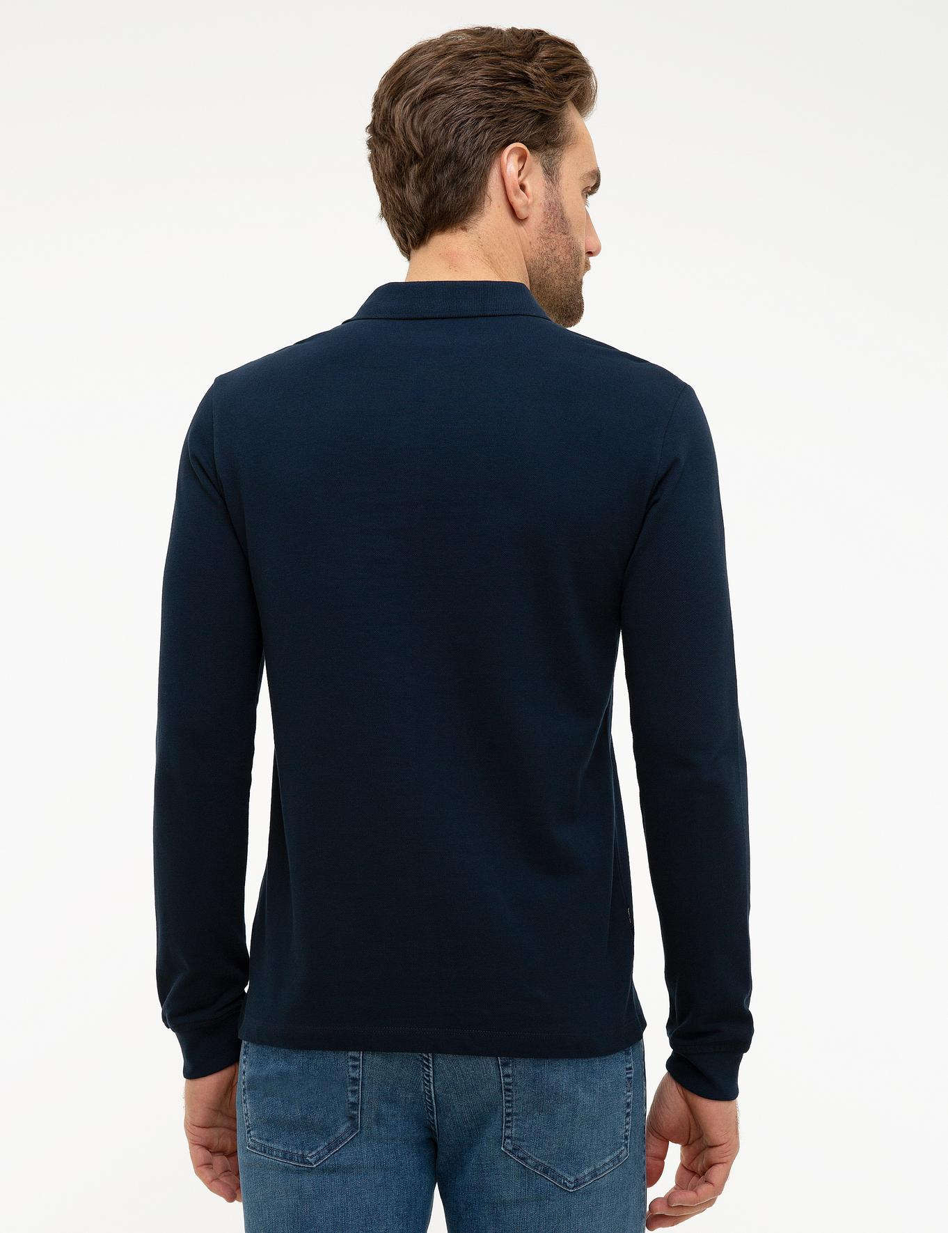 Lacivert Slim Fit Sweatshirt