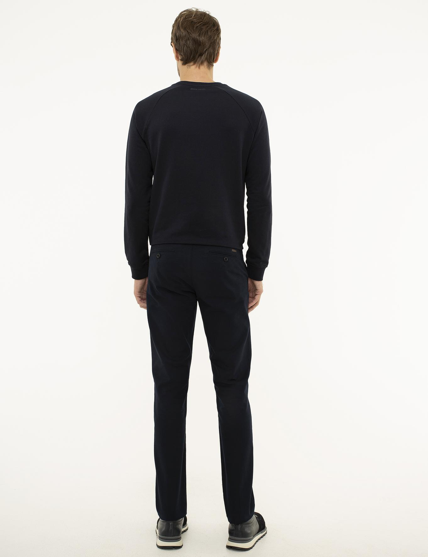 Lacivert Slim Fit Chino Pantolon