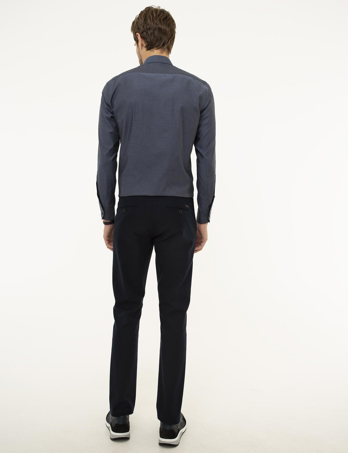 Lacivert Slim Fit Chino Pantolon