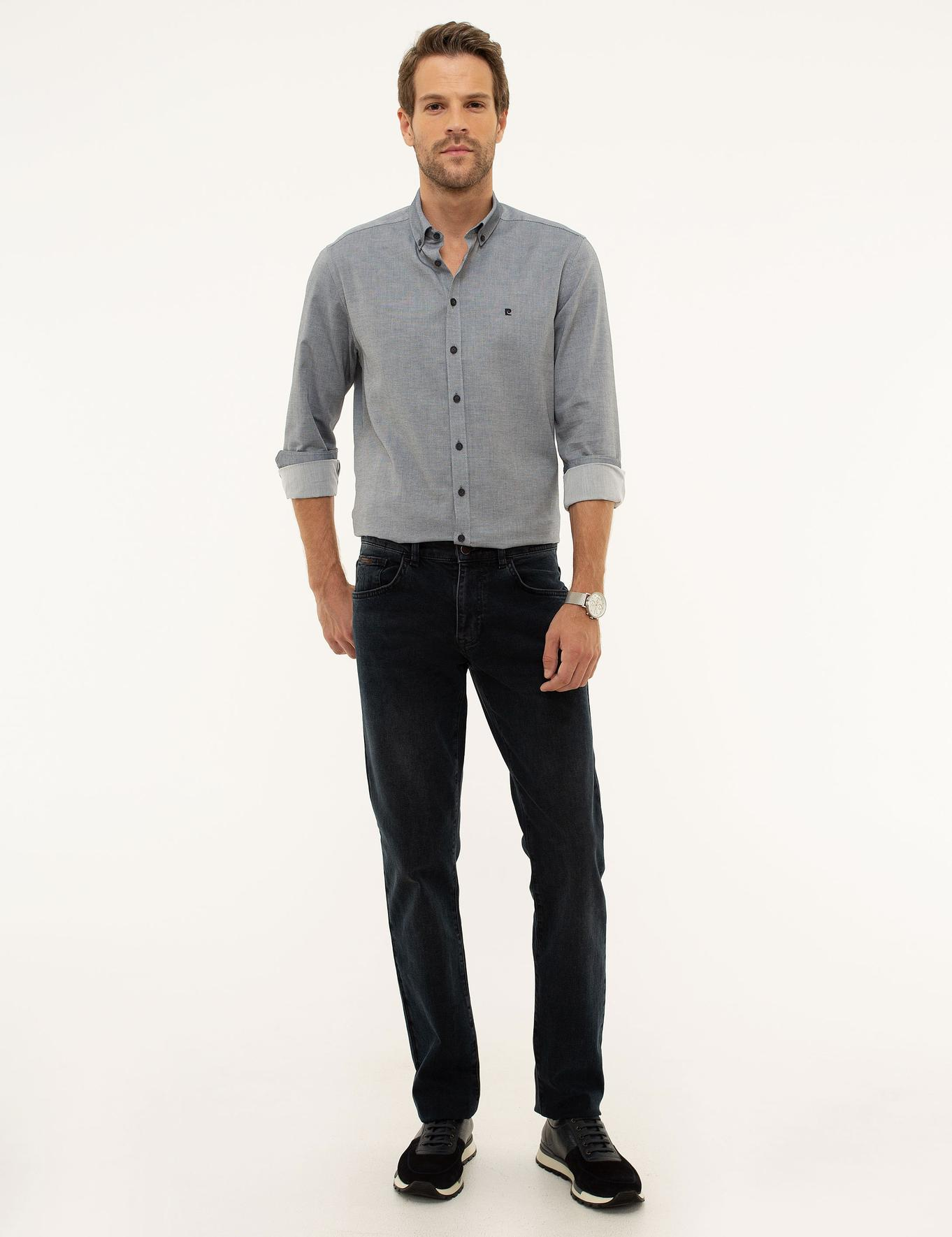 Petrol Straight Fit Denim Pantolon
