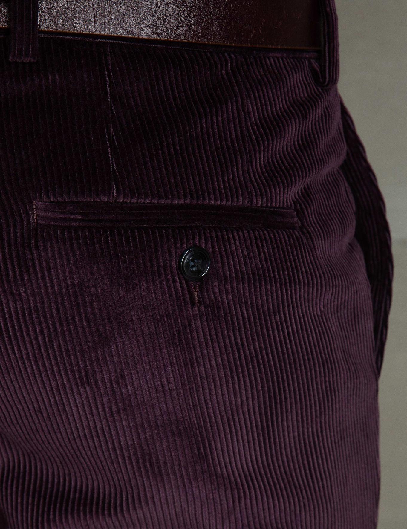 Bordo Slim Fit Pantolon