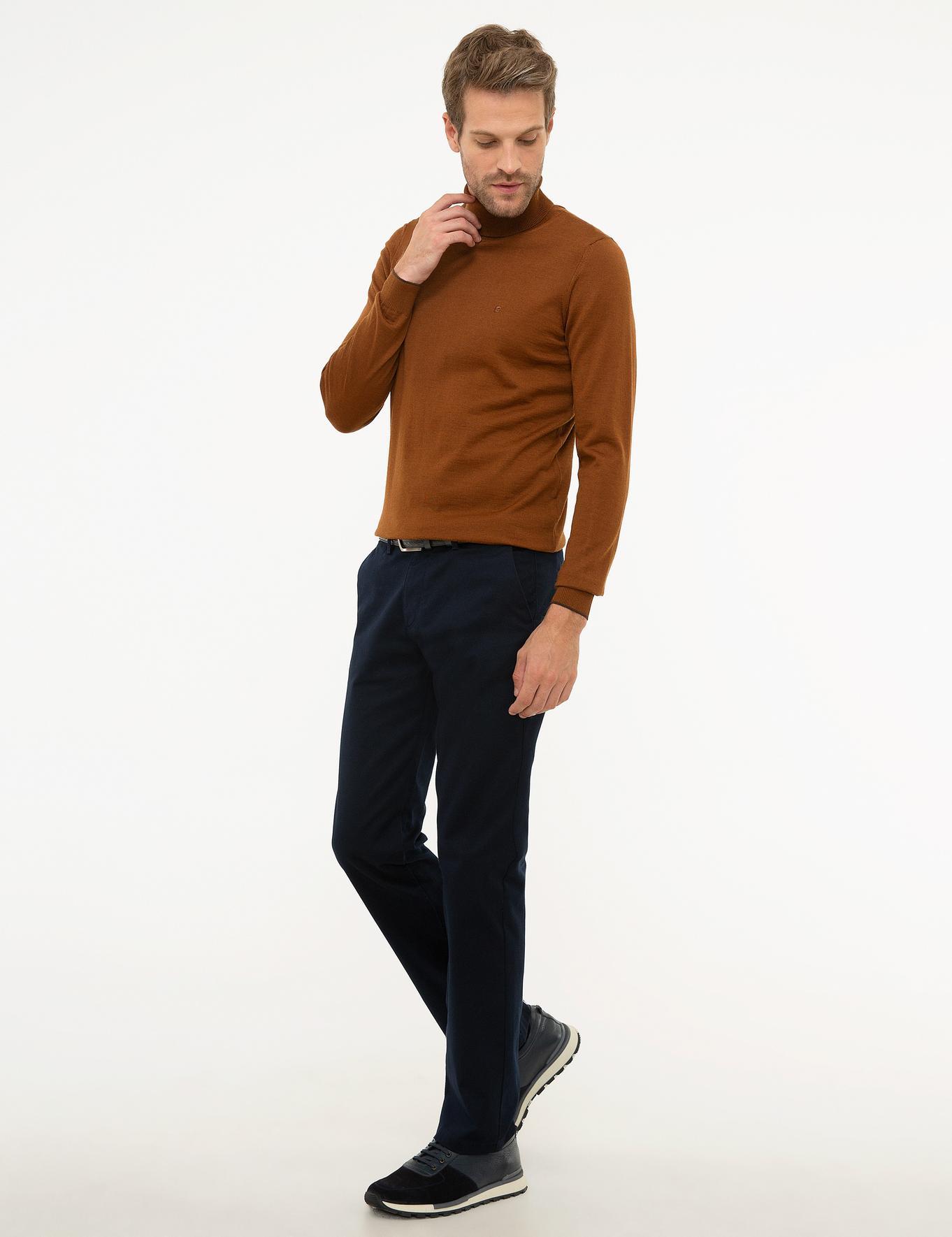 Lacivert Regular Fit Chino Pantolon